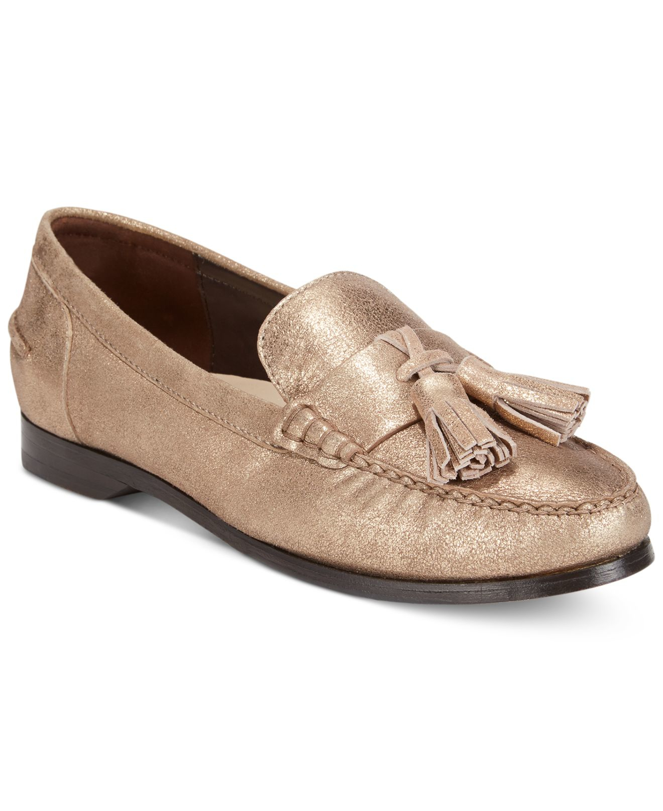 0109fe4a81d Lyst - Cole Haan Women s Pinch Grand Tassel Loafers in Metallic