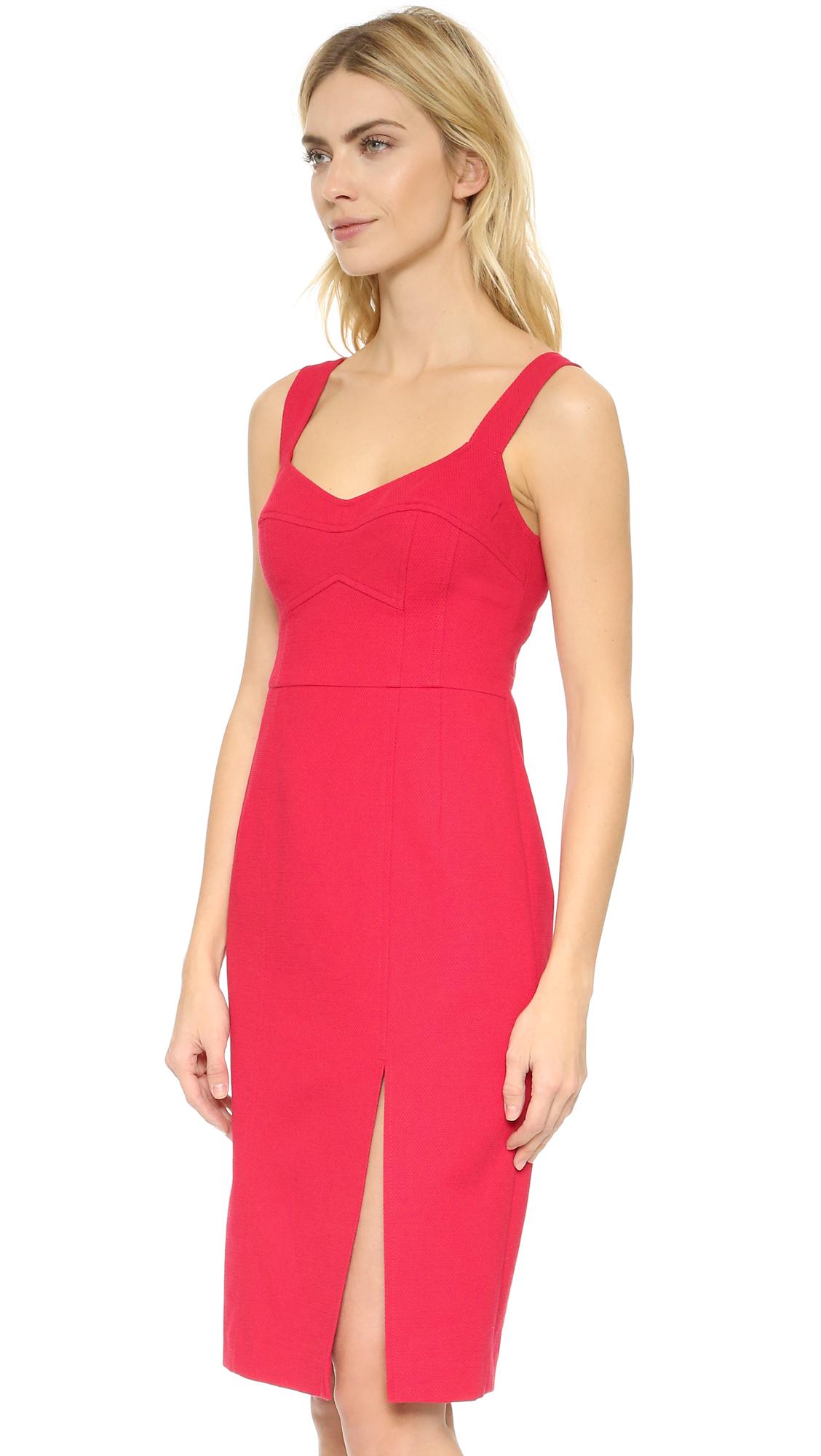 Nanette lepore Samba Sheath Dress in Red  Lyst