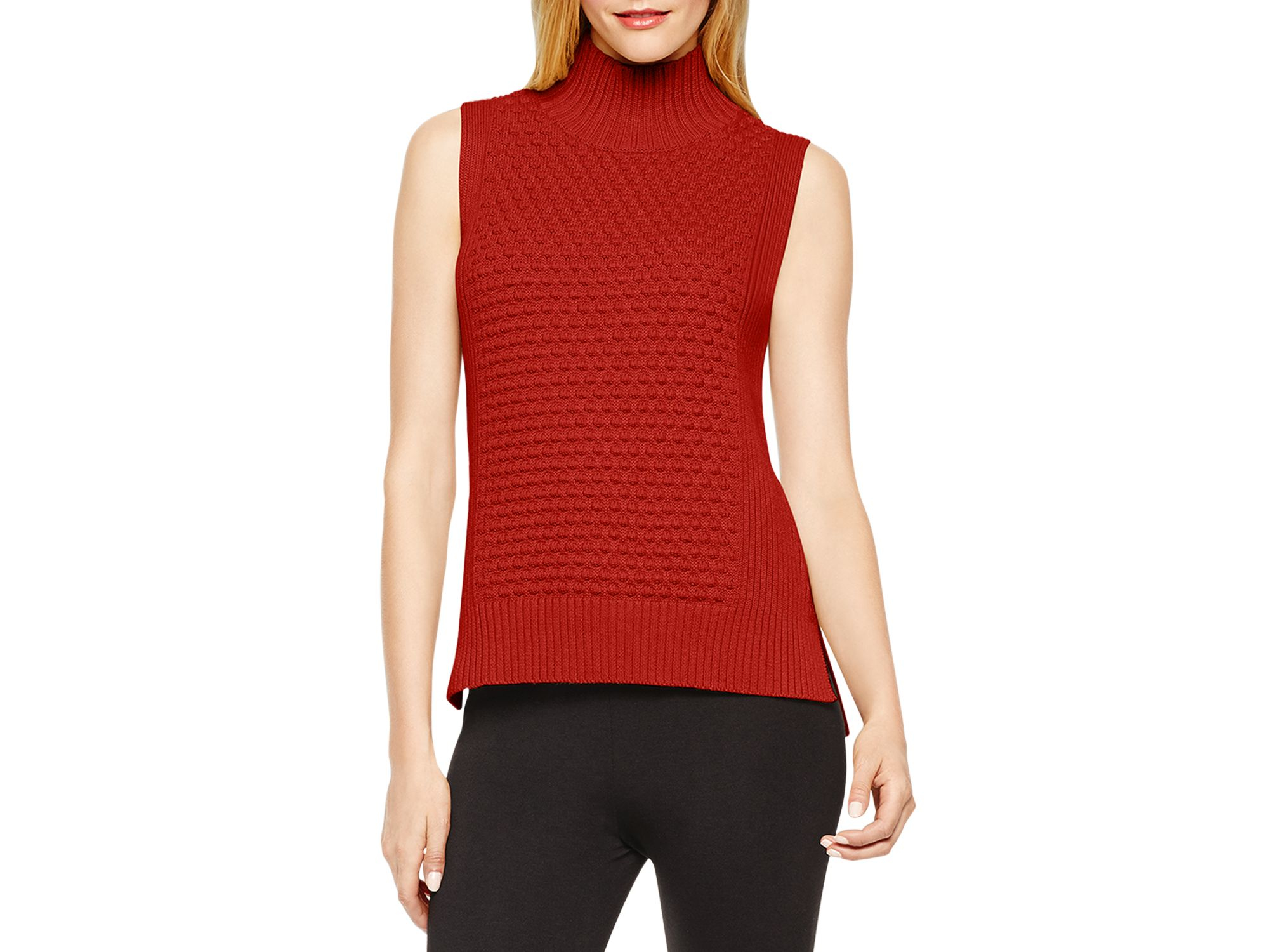 Vince Textured Mock Neck Sweater 2