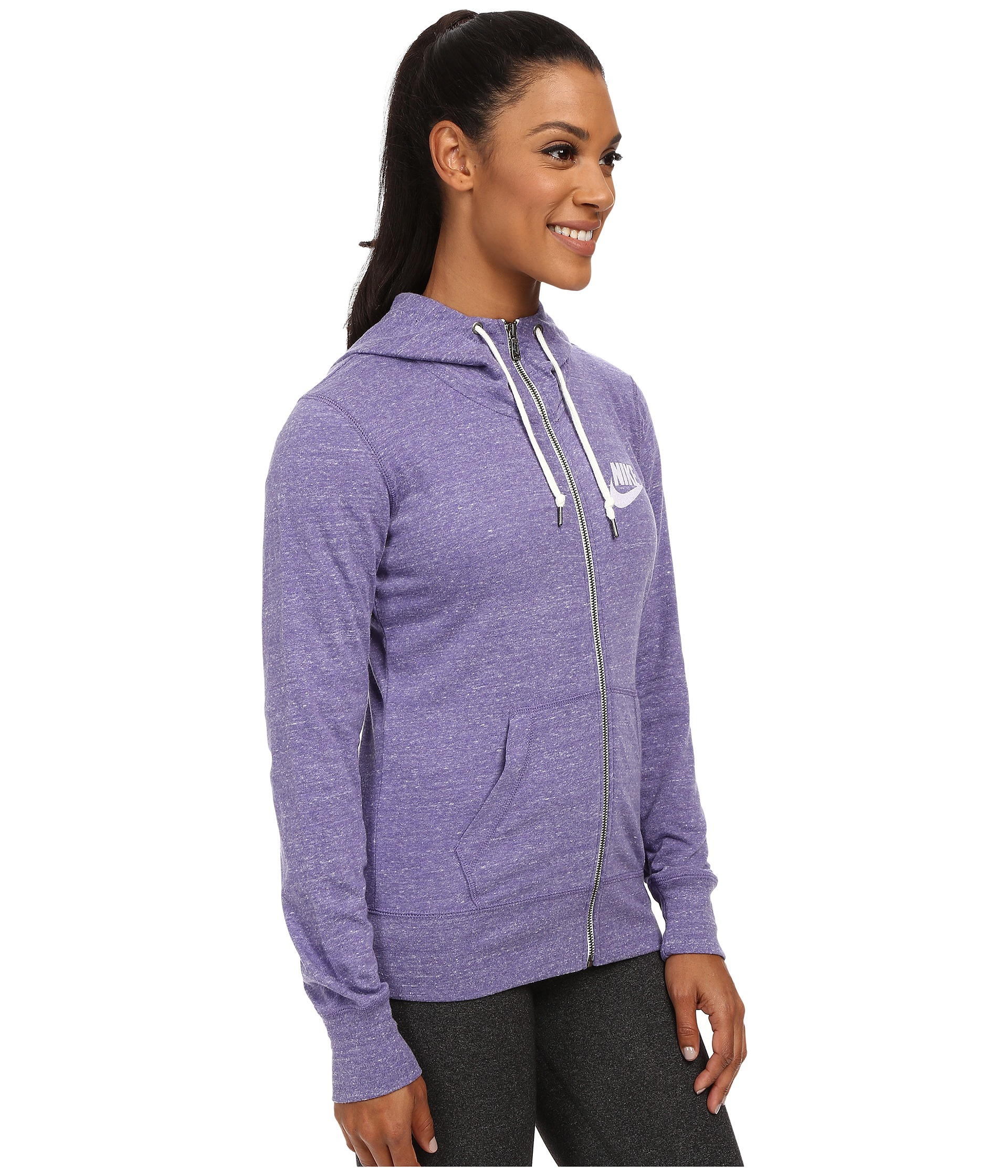 release date: d5b88 dcb47 Nike Gym Vintage Full-zip Hoodie in Purple - Lyst