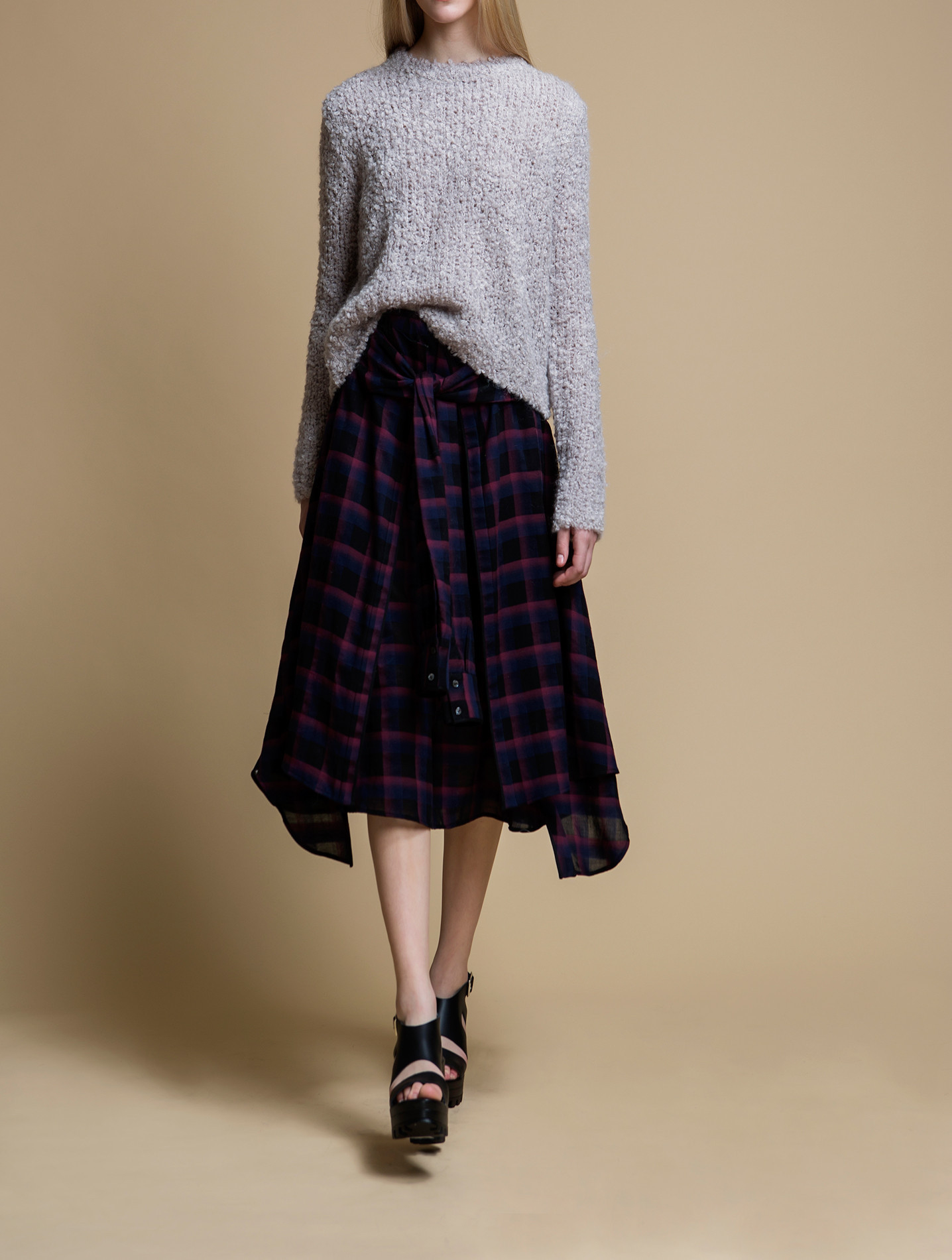 Rhi Long Shirt Wrapped Skirt In Red Lyst