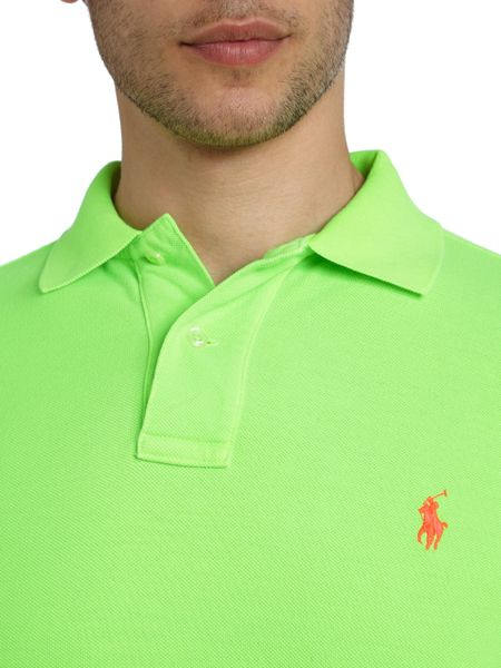 Polo ralph lauren t shirts polo shirts lyst for Mens lime green polo shirt