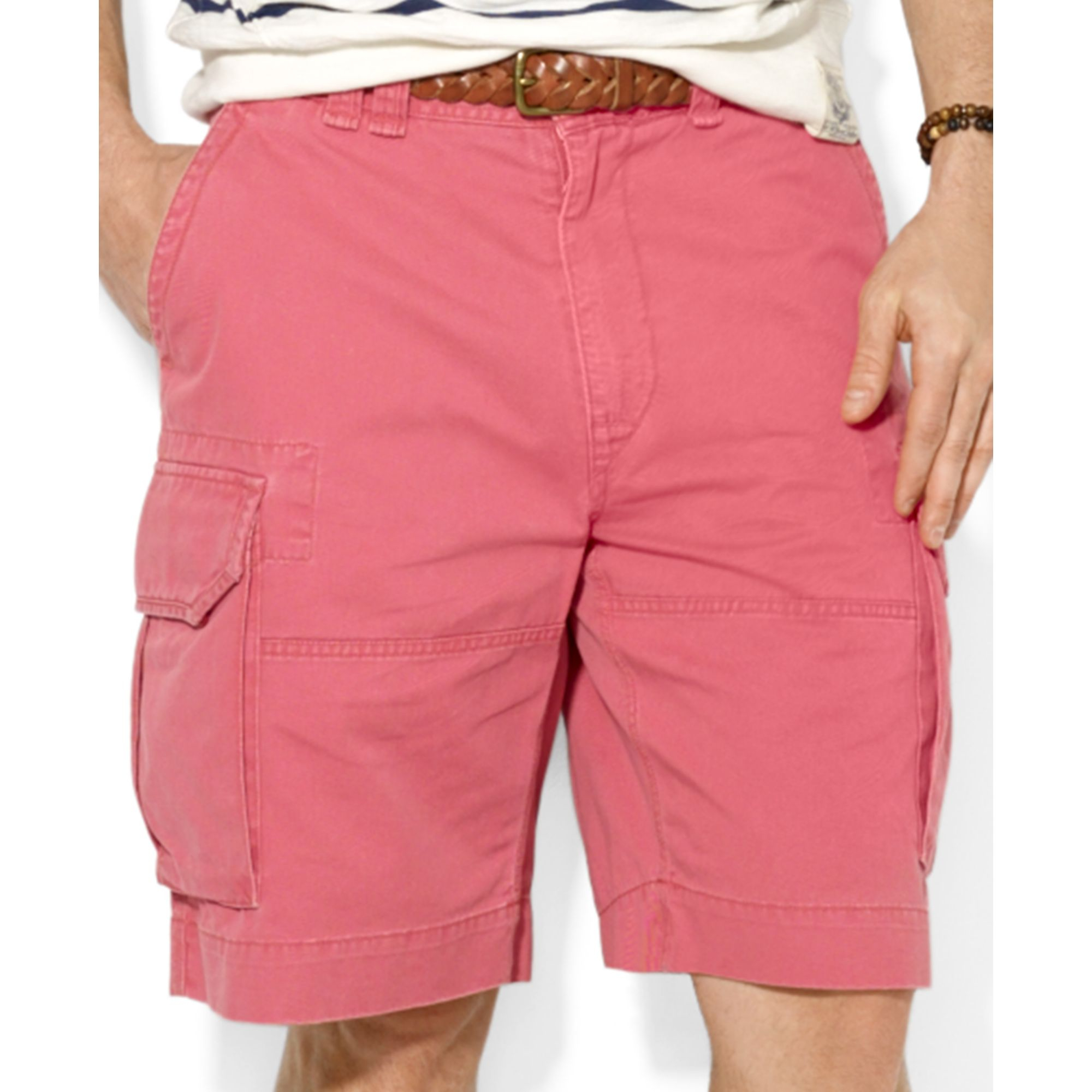 0840425ad033 ... release date lyst ralph lauren polo classic cargo shorts in red for men  3118b 75e4e