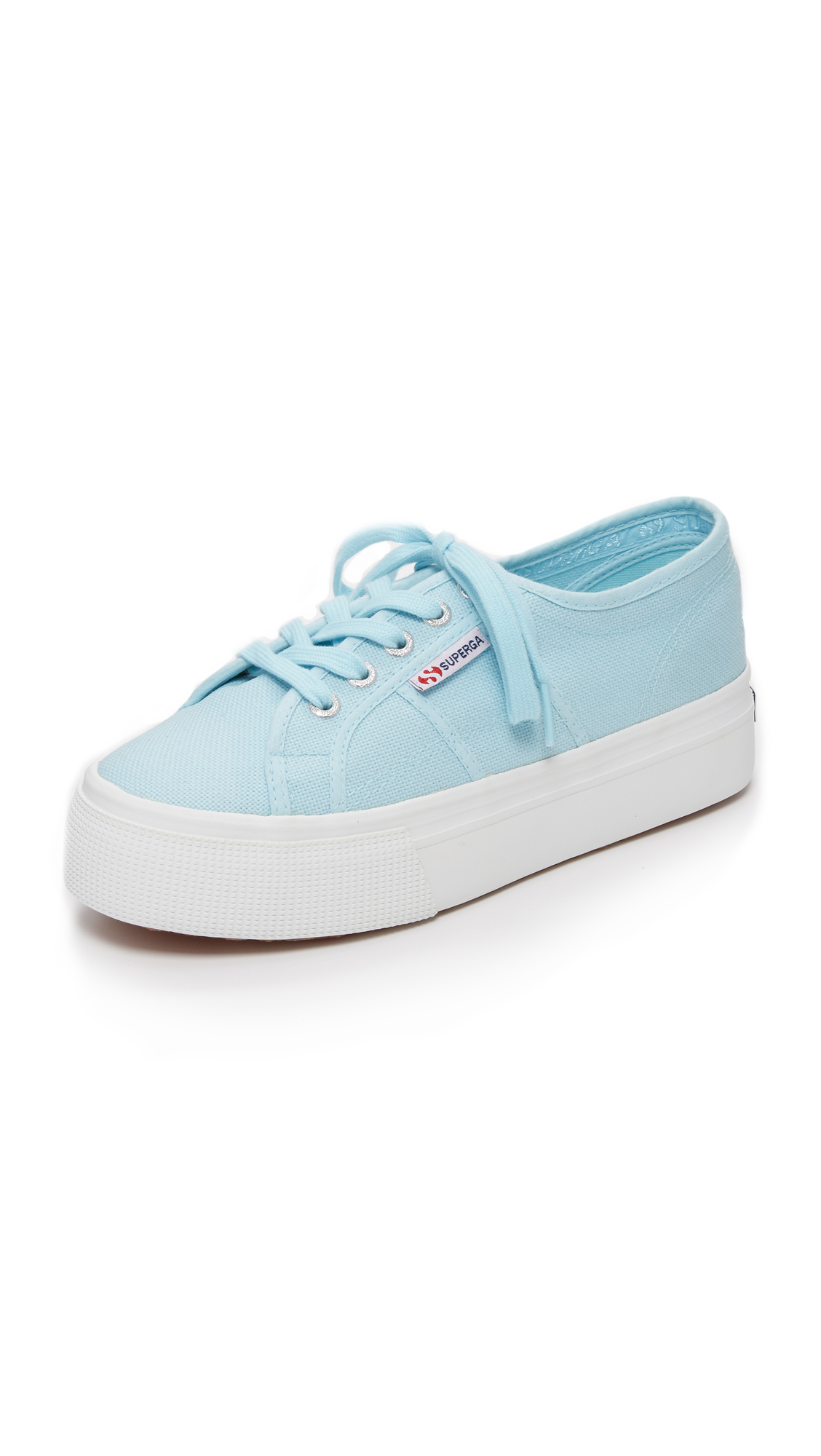 7d7174be464 Lyst - Superga 2790 Platform Sneakers in Blue
