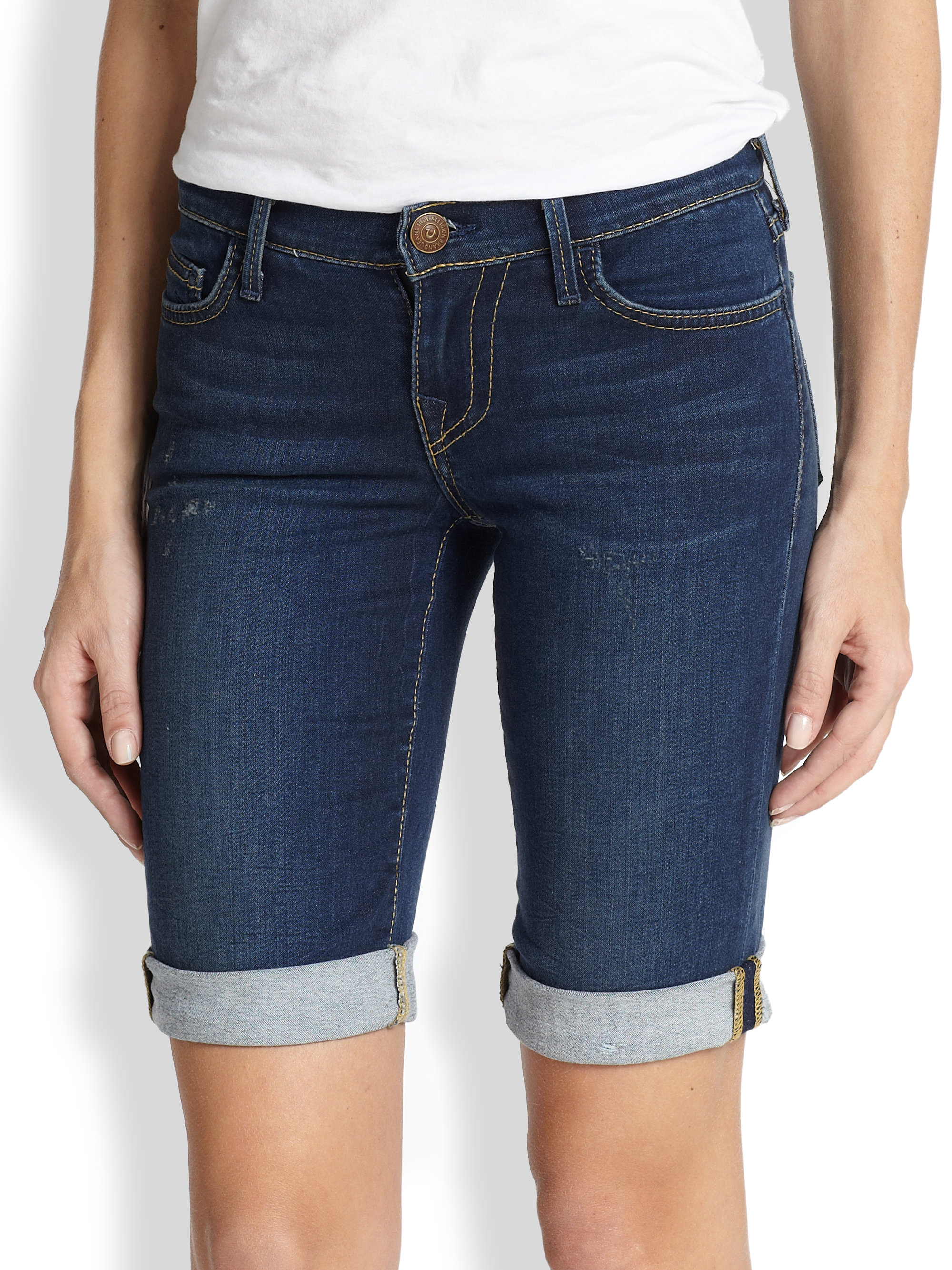 Denim Stretch Shorts - The Else