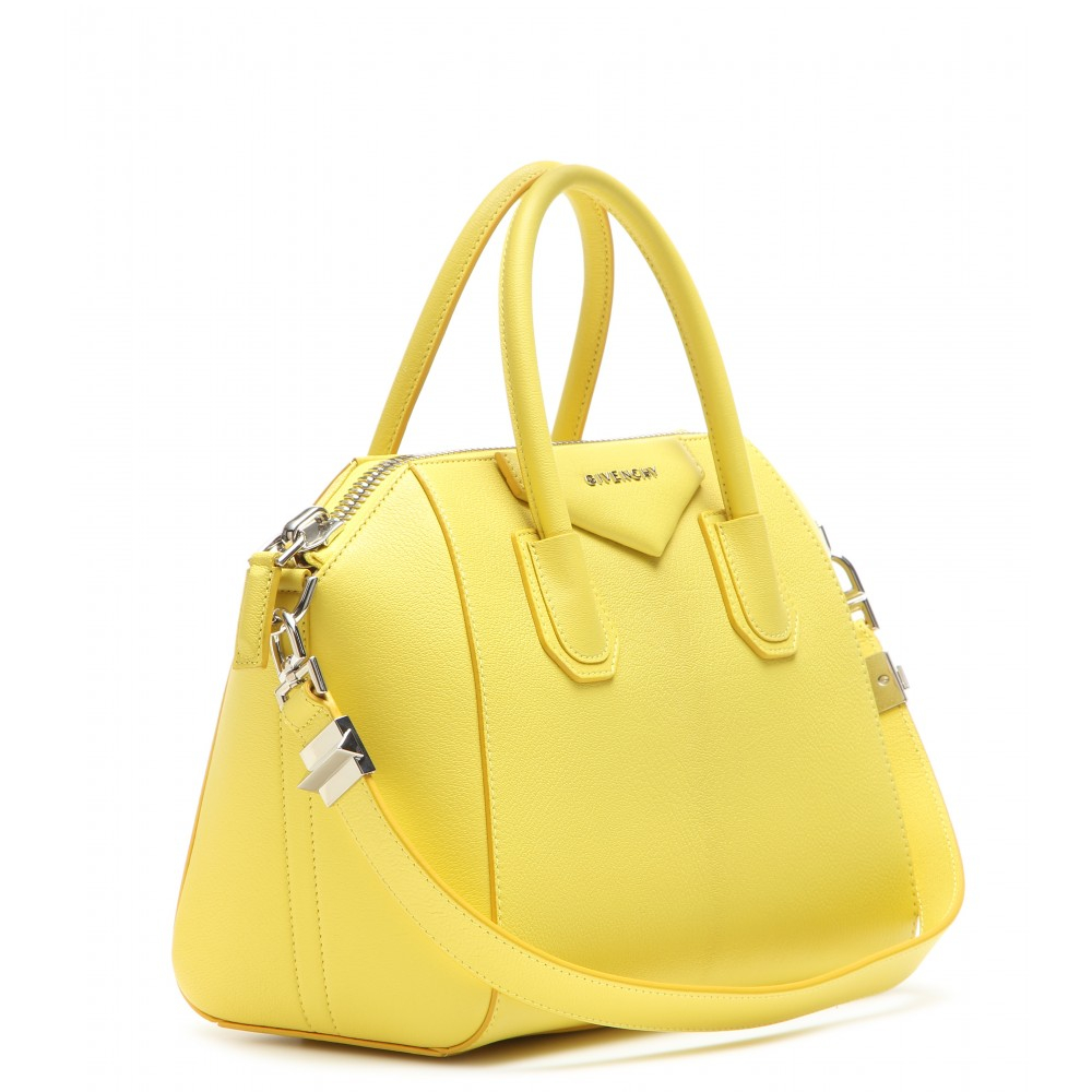 e7db8c4372 Lyst - Givenchy Antigona Small Leather Tote in Yellow