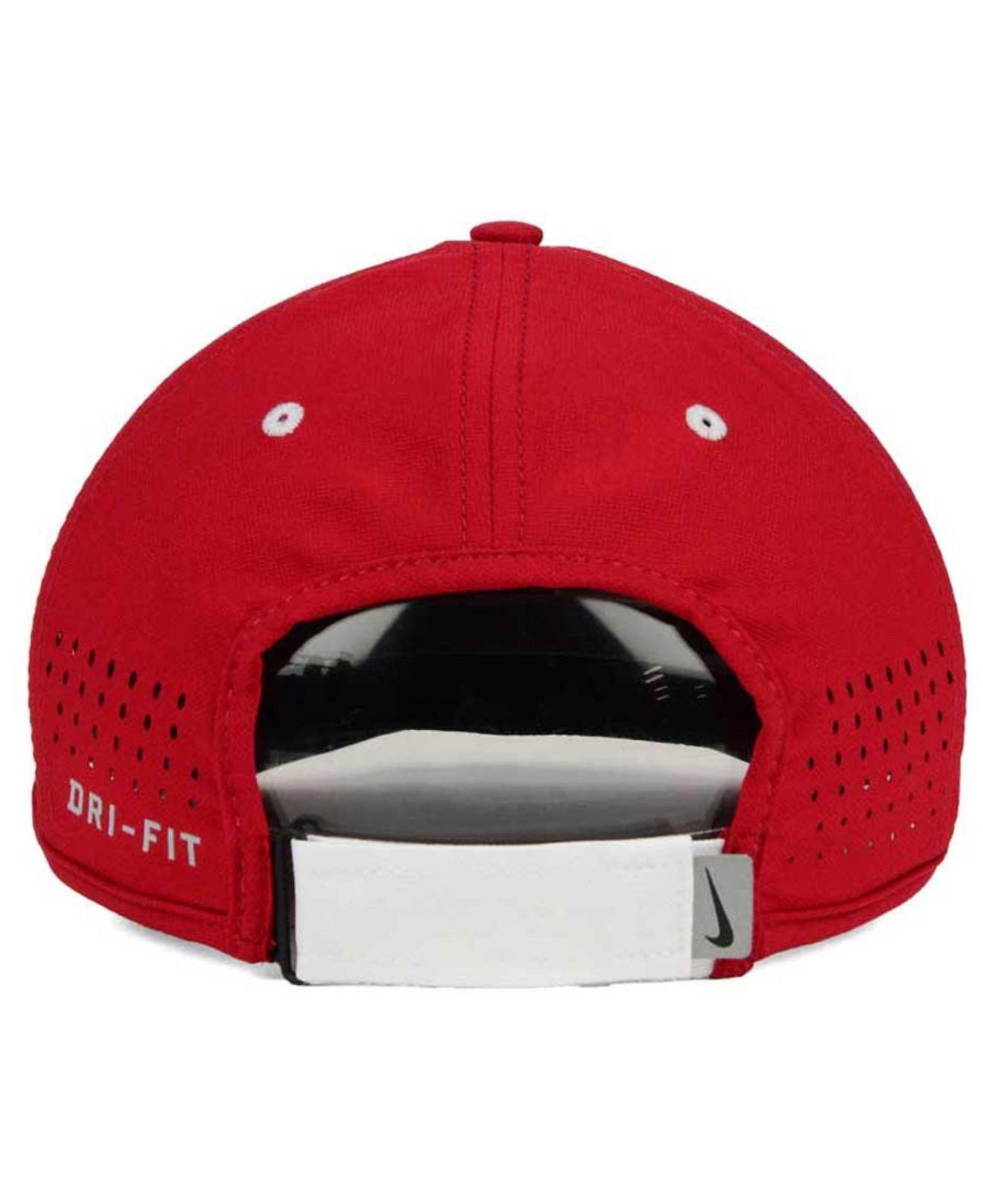 best price lyst nike stanford cardinal dri fit coaches cap in red for men  89a9a d03eb 587c20328e47