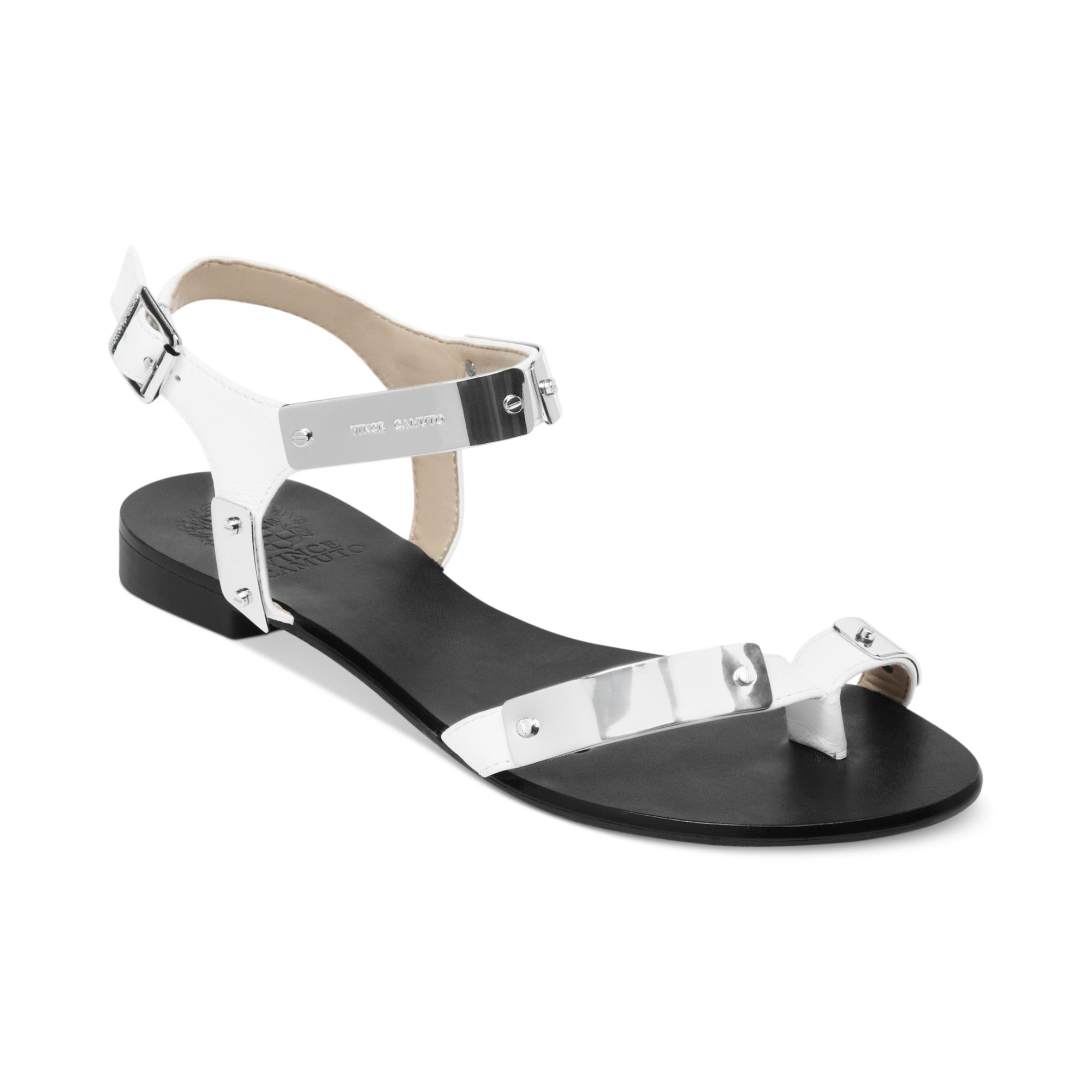 Lyst Vince Camuto Joslyn Flat Sandals In White