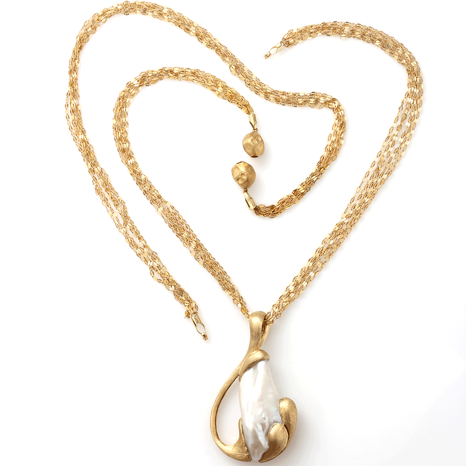 Yvel Freshwater Pearl Pendant Necklace in Gold (YLWGOLD ...