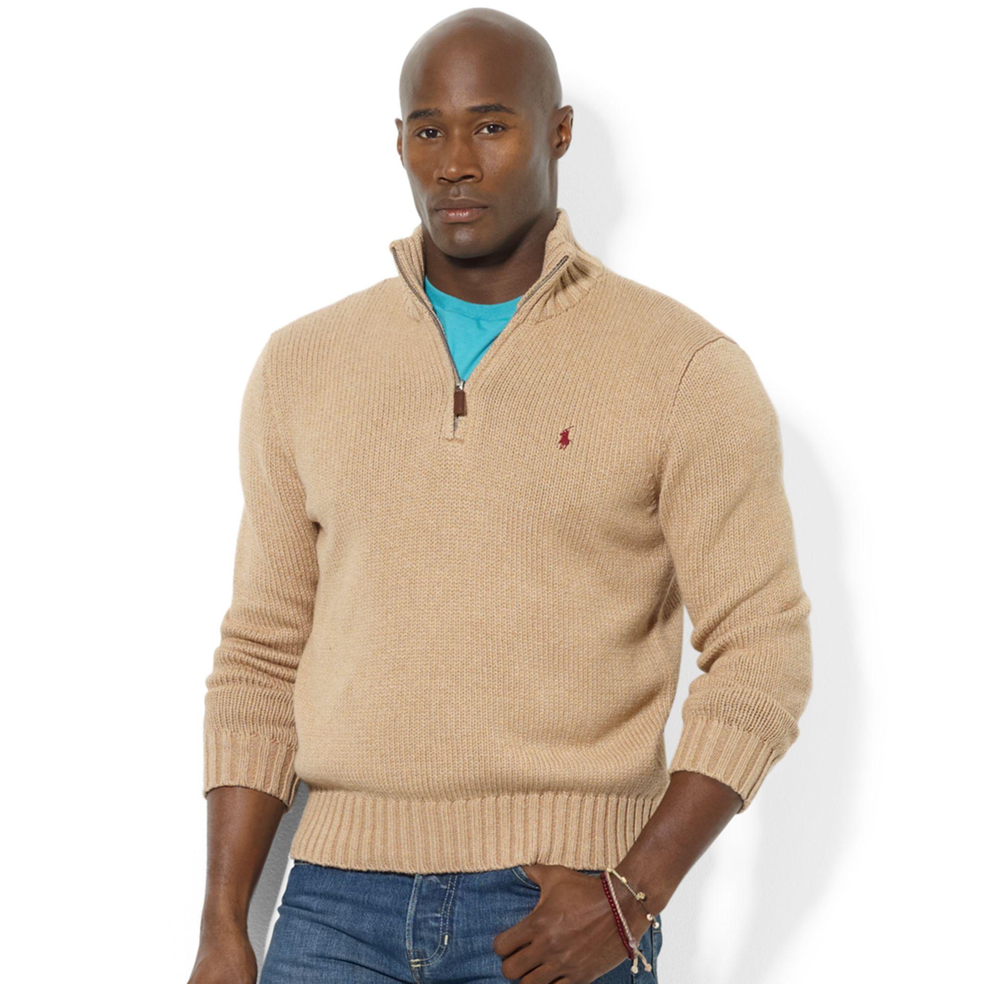 Lyst Ralph Lauren Halfzip Mock Neck Hightwist Cotton Pullover In