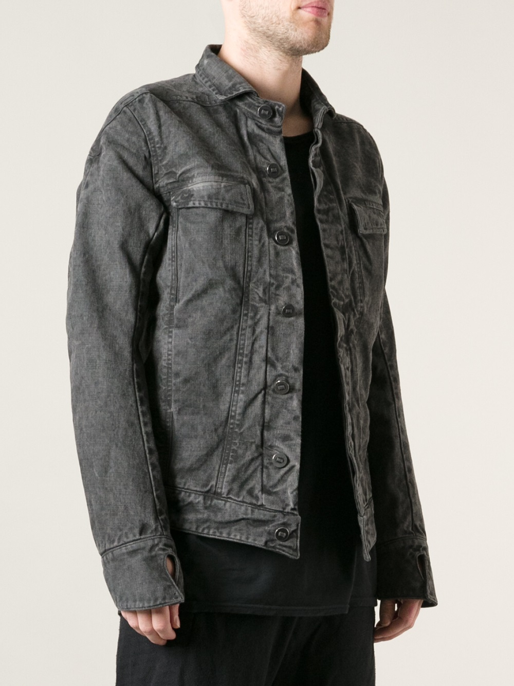 Boris bidjan saberi Denim Jacket in Gray for Men | Lyst