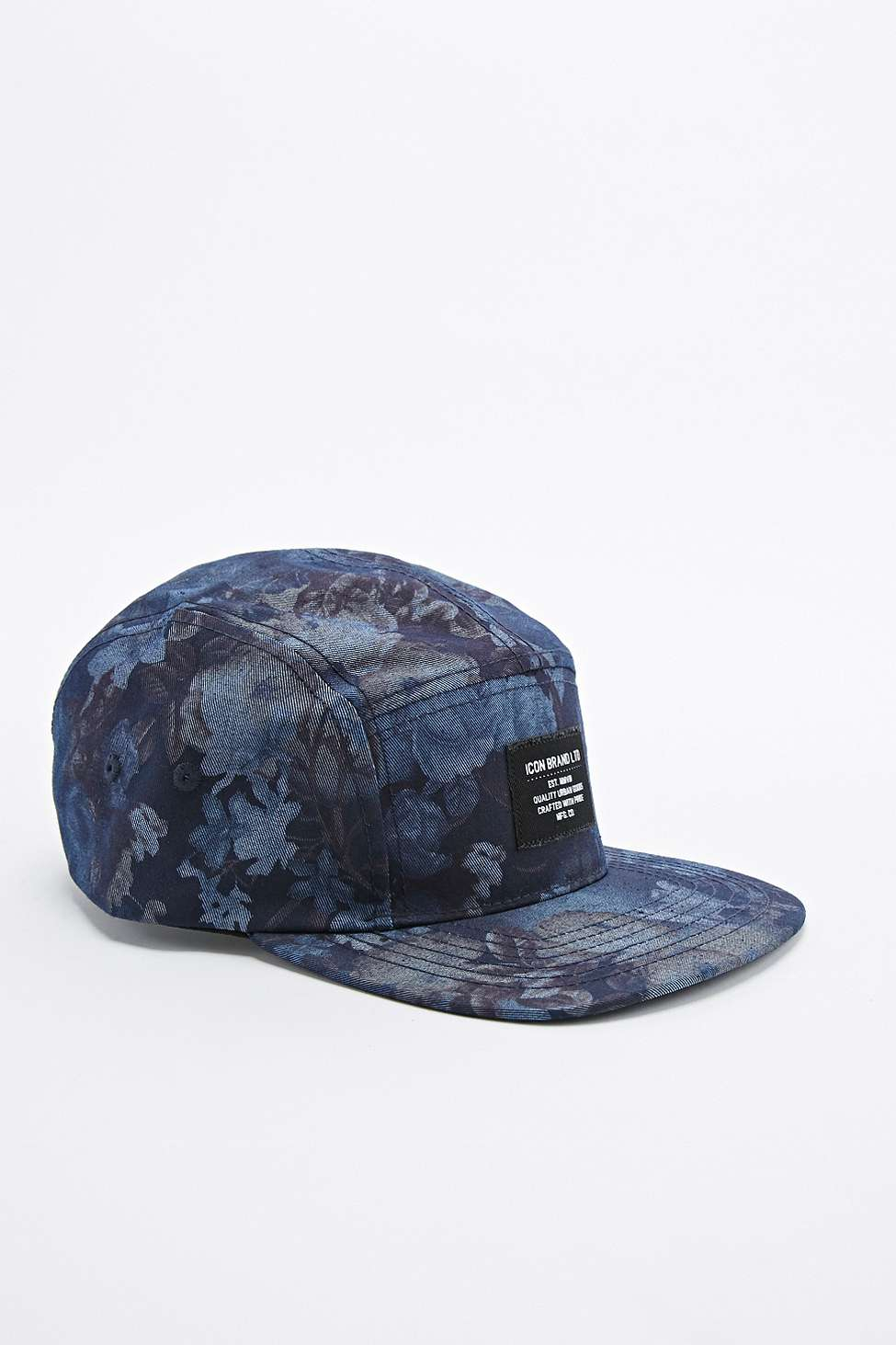 9c6ca91788d7f0 Icon Brand Shangai Tonal Floral 5 Panel Cap In Blue in Blue for Men ...
