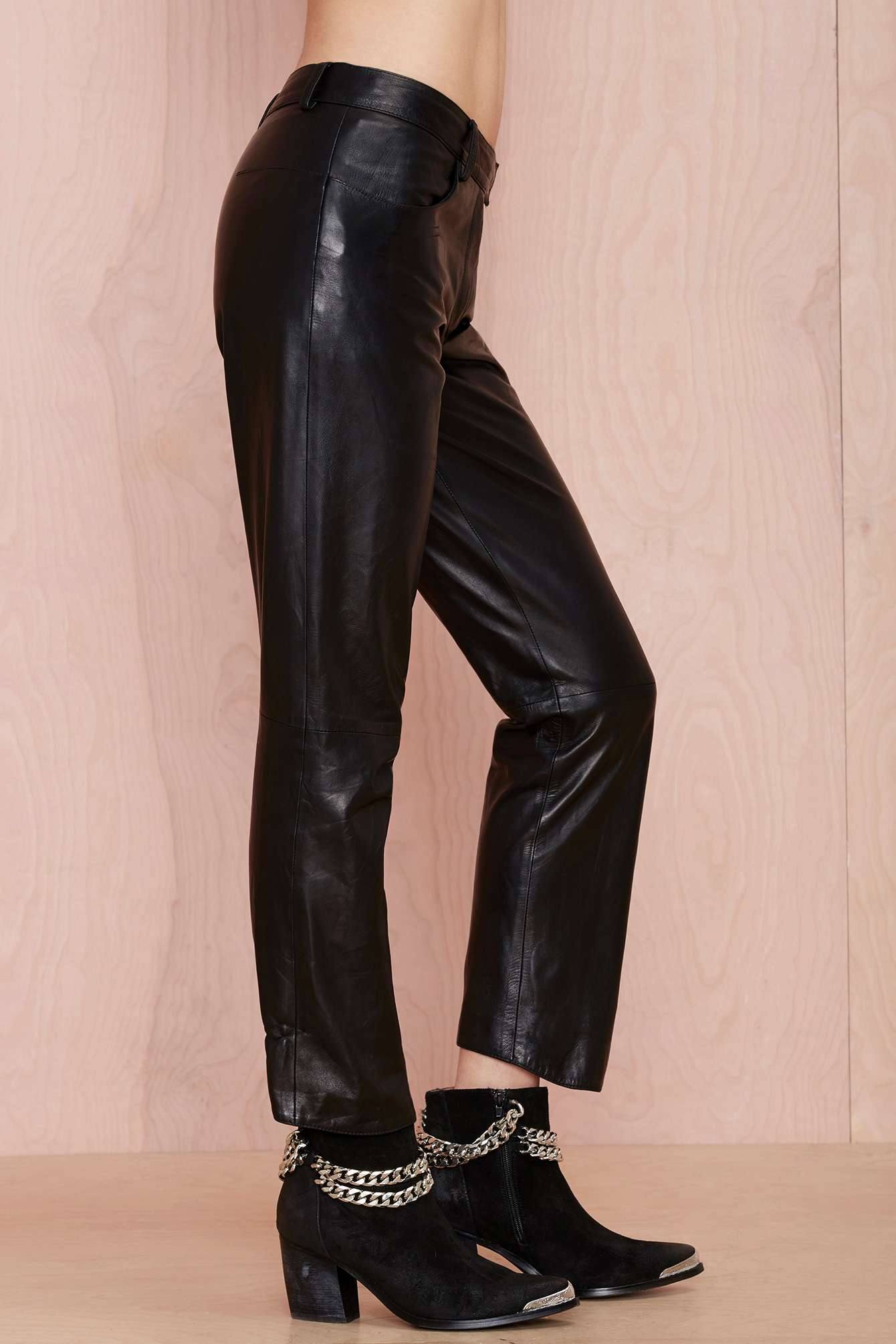 prada leather pants