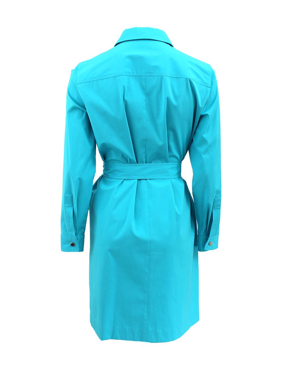 Michael Kors Long Sleeve Shirt Dress In Blue Aqua Lyst