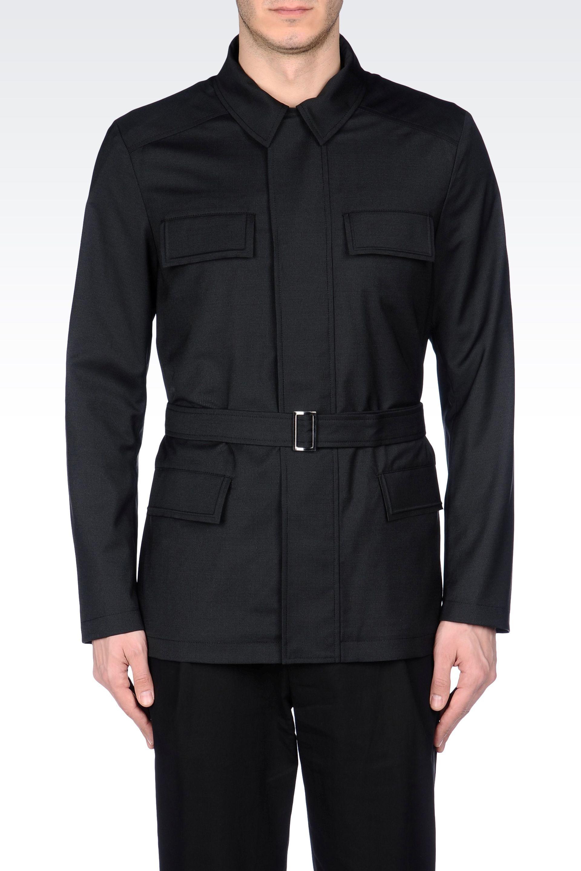 Lyst Emporio Armani Caban In Black For Men