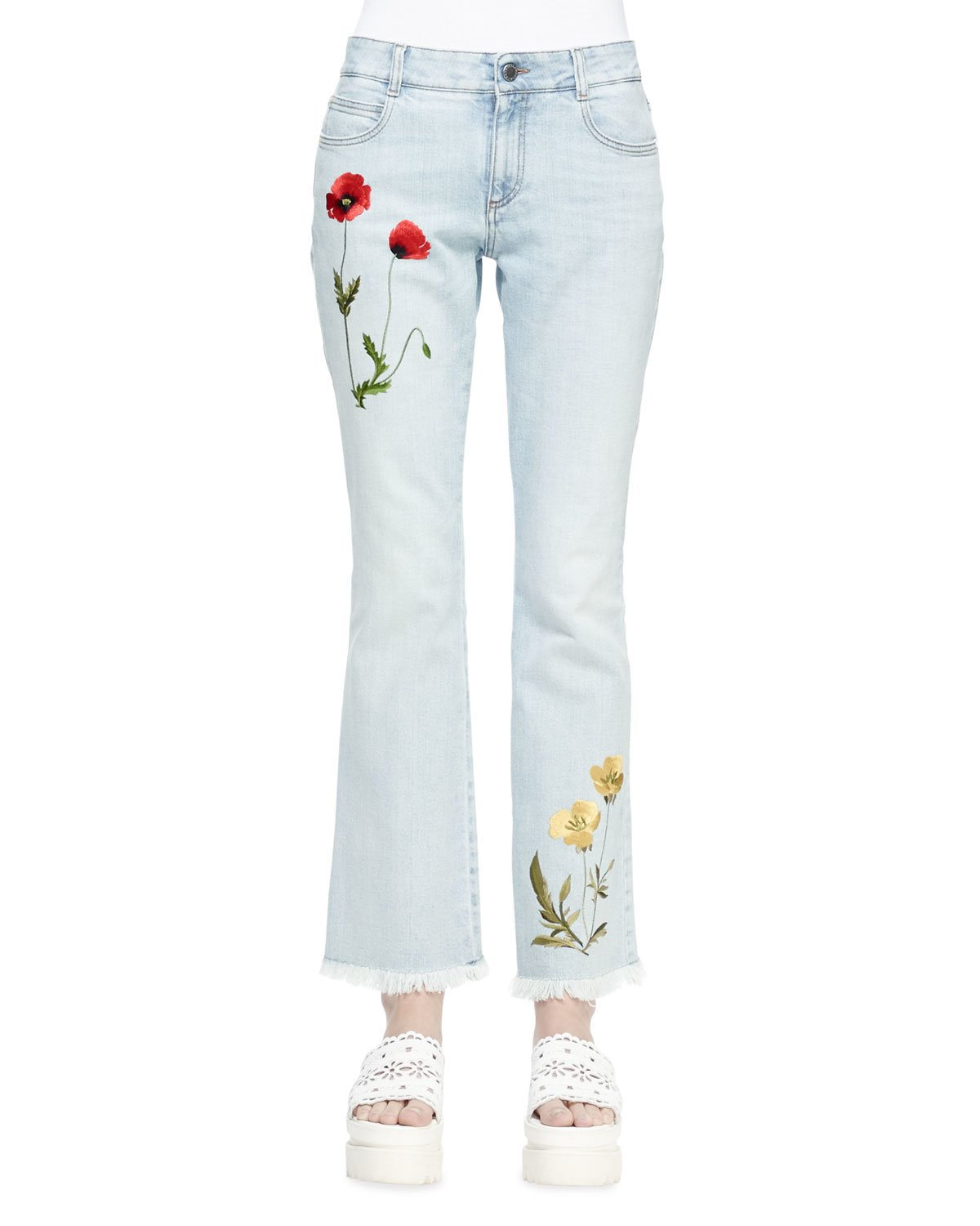 Sale Explore Embroidered jeans Stella McCartney Discount Cheapest Price Discount Footlocker Pictures phMPnjiXHh