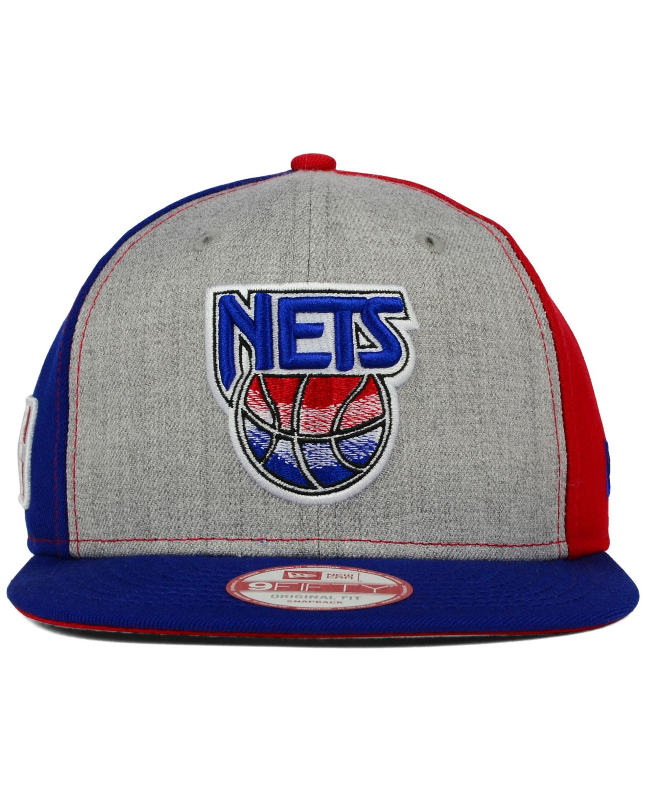b3ca9624889 Lyst - Ktz New Jersey Nets Tri-top 9fifty Snapback Cap in Gray for Men
