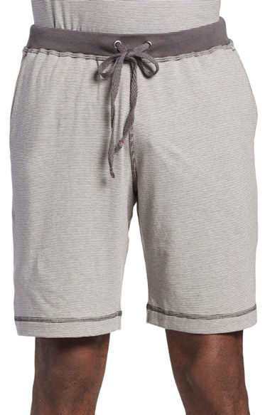 Daniel Buchler Cotton Lounge Shorts In Gray For Men Lyst