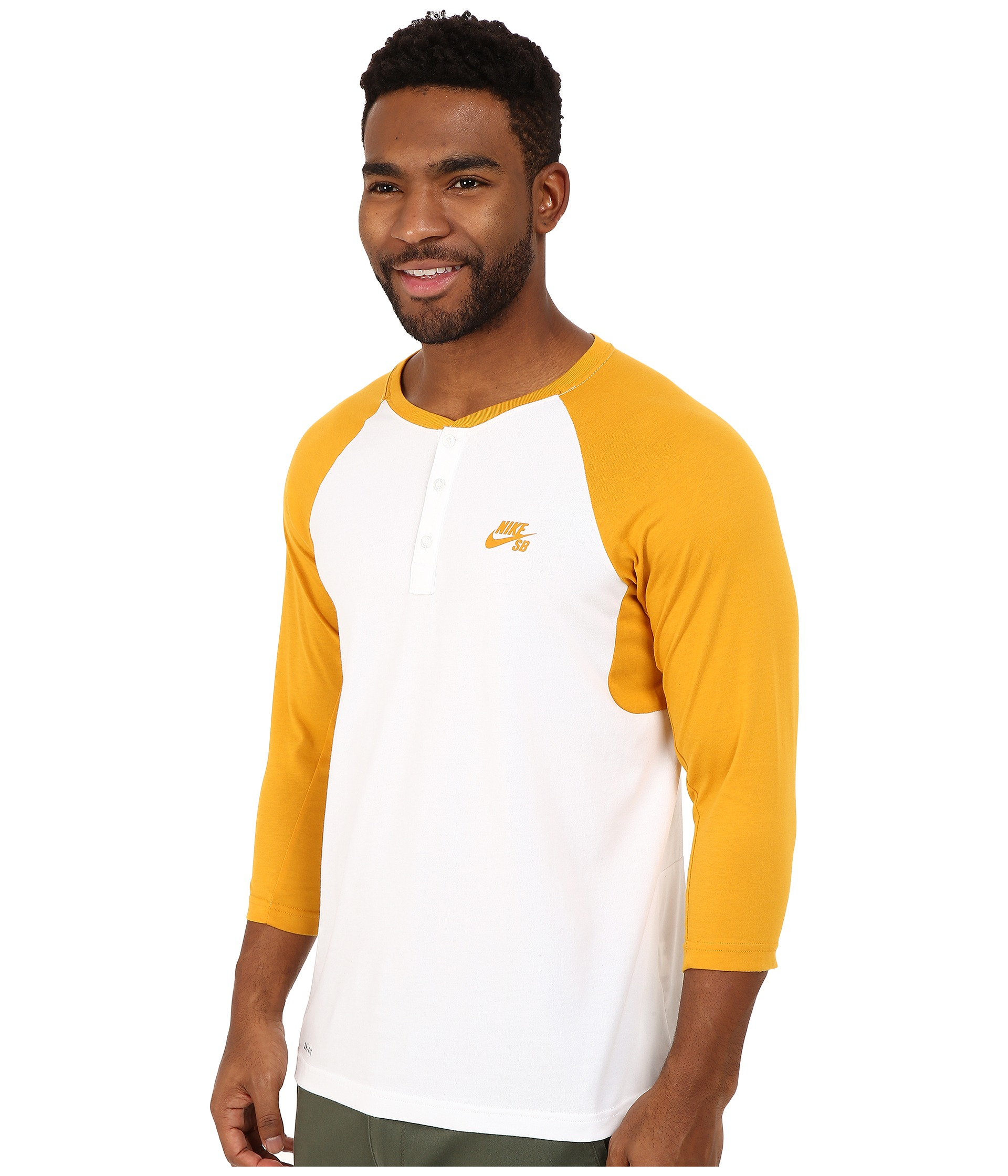 4a8decbc Nike Sb Dri-fit 3/4 Sleeve Henley Top in Metallic for Men - Lyst