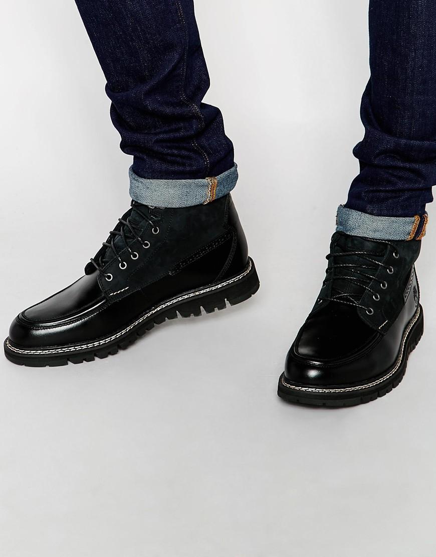 10a3cc9e73bb Britton Men For Boots Toe Black In Heel Moc Lyst Timberland Uw5X8q8Hz
