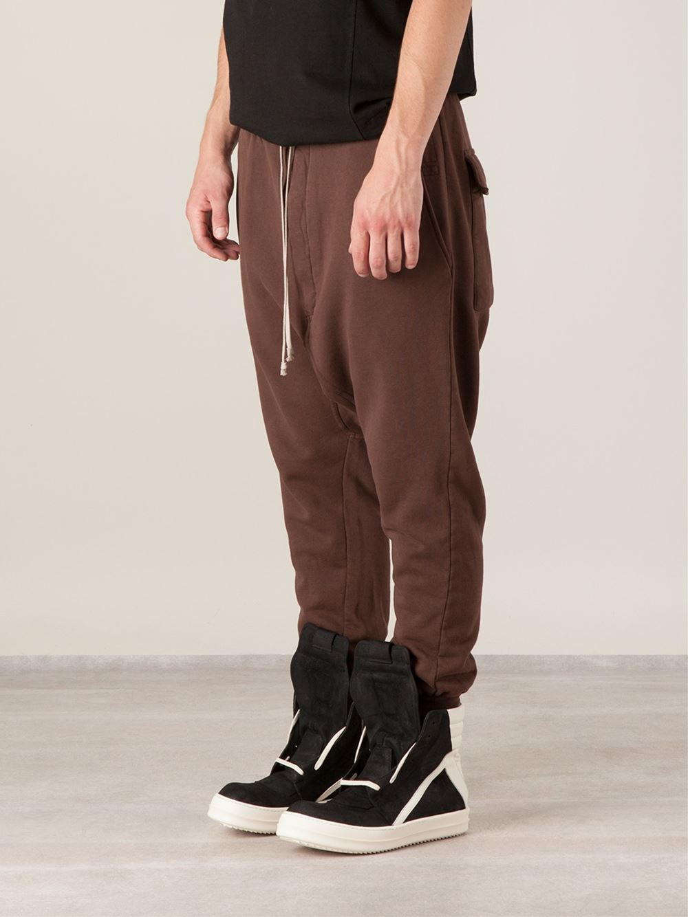 drop crotch zip shorts - Brown Rick Owens uZNdln3lNw