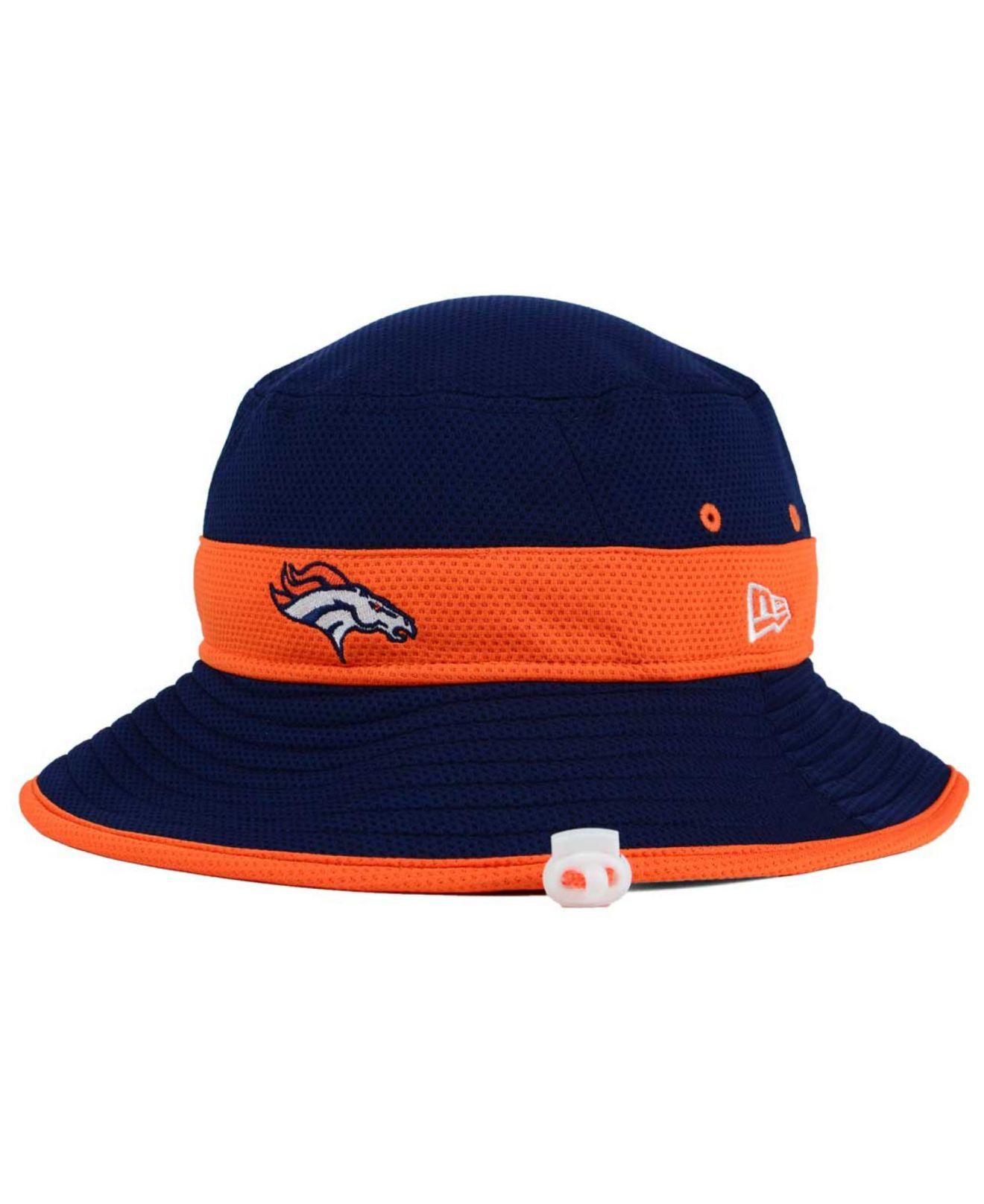 Lyst - KTZ Denver Broncos Training Camp Reverse Bucket Hat in Blue ... 421e9053c
