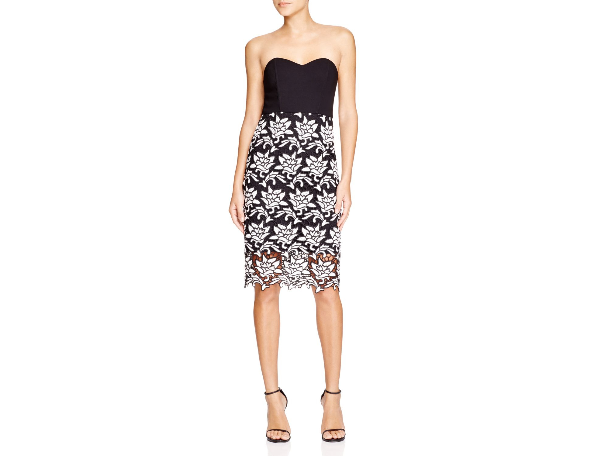 793bbcc27b Lyst - JOA Knit And Lace Strapless Dress - Bloomingdale s Exclusive ...