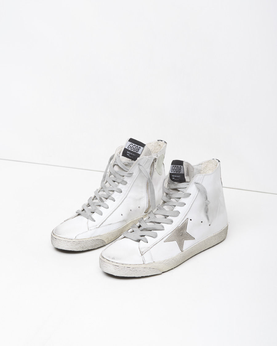 White Francy high sneaker Golden Goose 9jsJvahZ