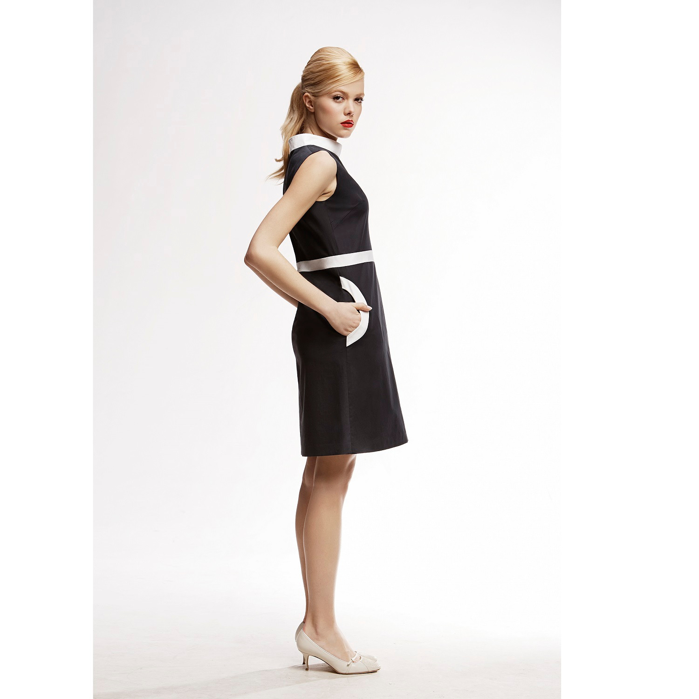 Rumour london Monica High Neck A-line Dress in Black