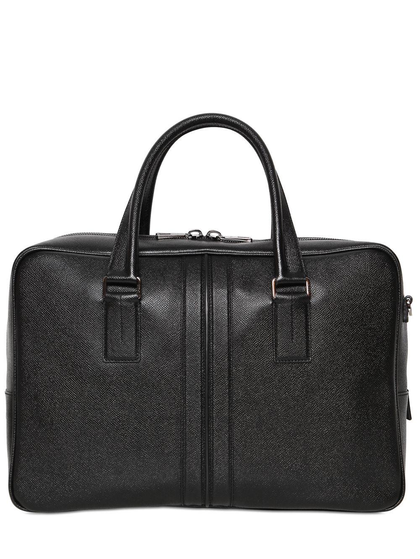 Lyst tod39s medium leather document holder bag in black for Document holder bag