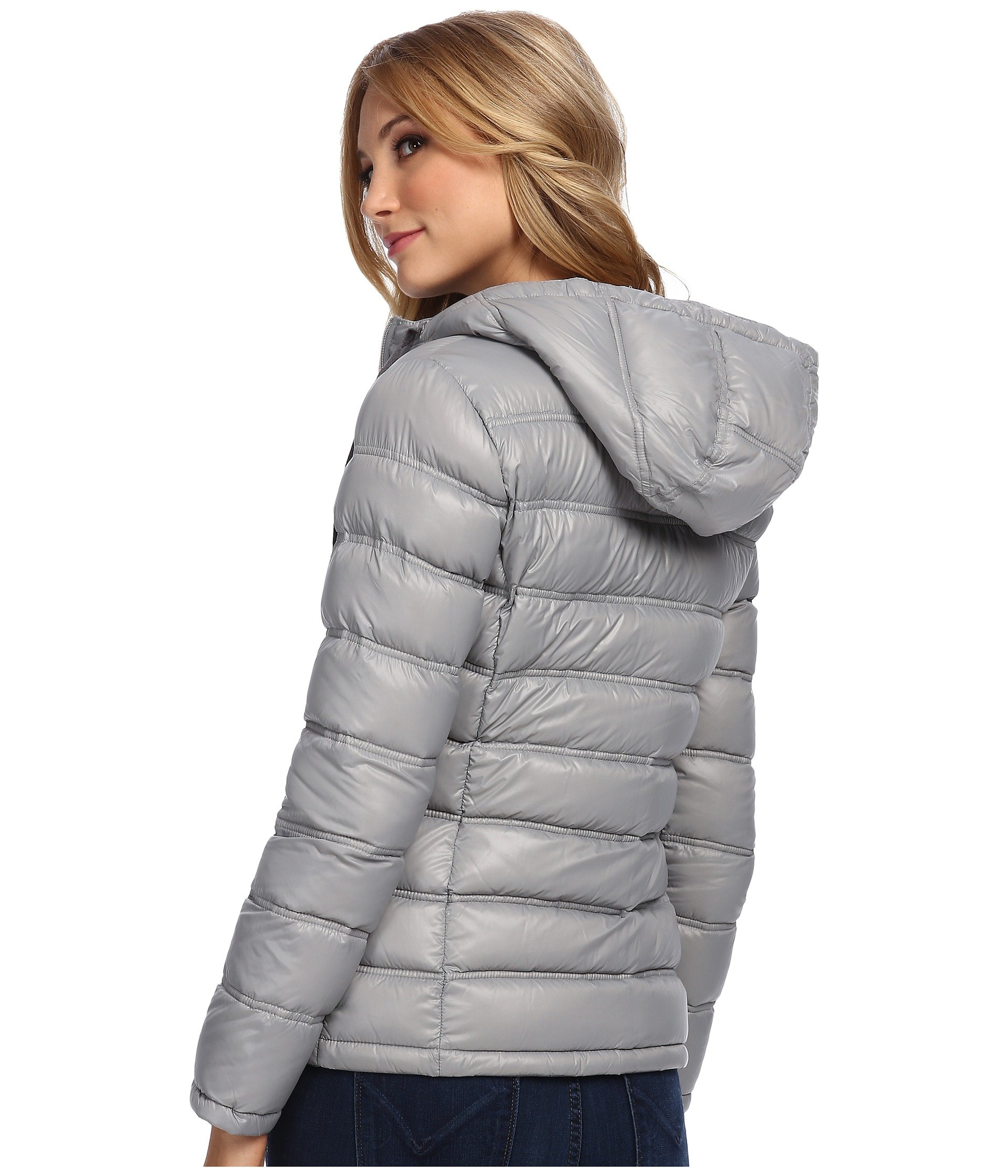dfbb9f768a93 Lyst calvin klein zipfront puffy packable down jacket in metallic jpg  1920x2240 Down jacket calvin klein