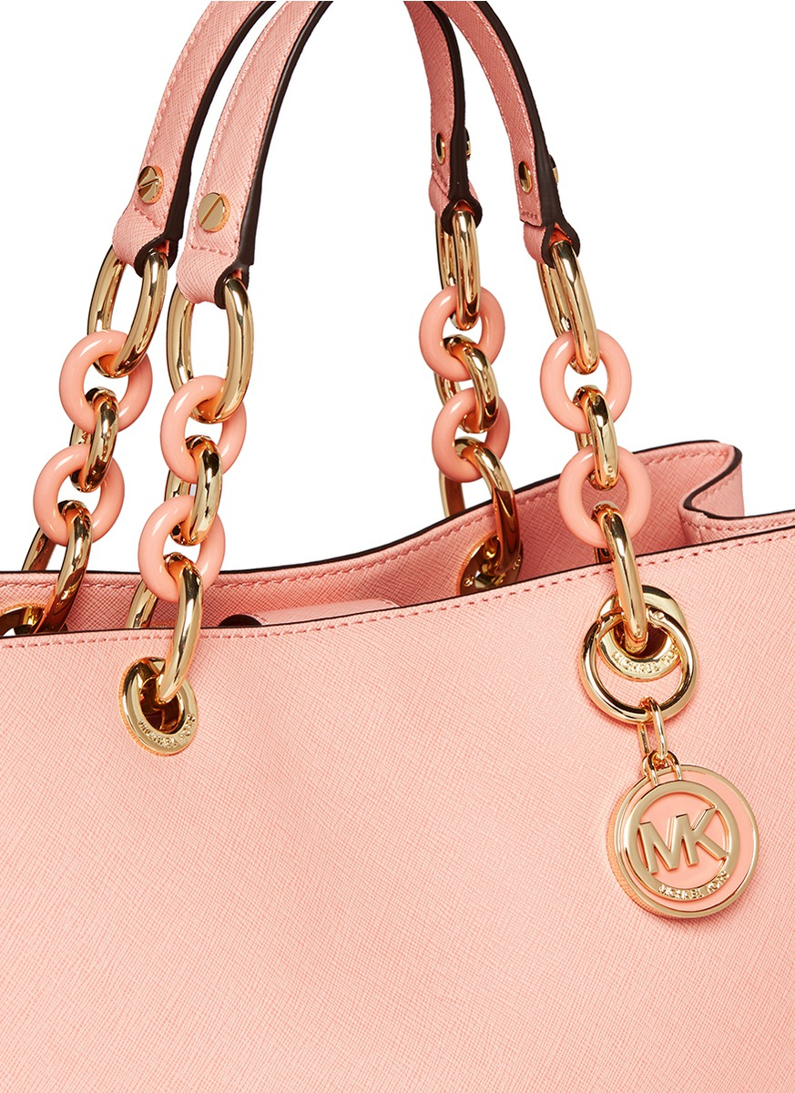 ... order lyst michael kors cynthia medium saffiano leather satchel in pink  4693c 35643 d7f9000b832e1