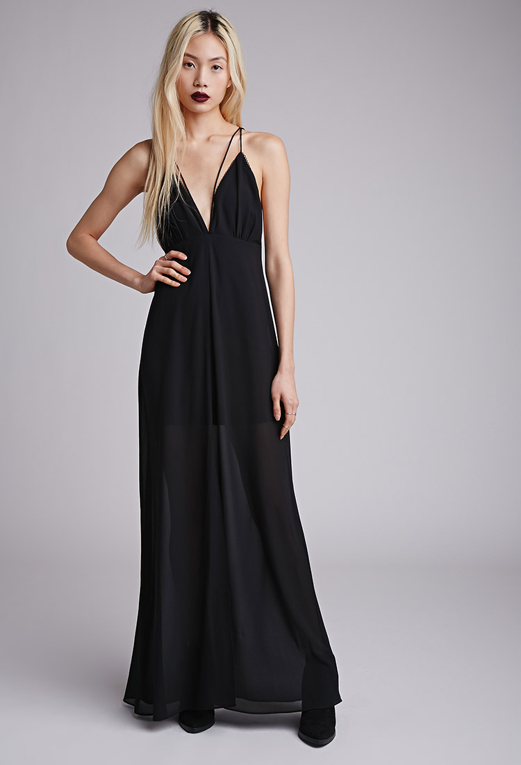 caa25650c36 Forever 21 Strappy Chiffon Maxi Dress You ve Been Added To The ...