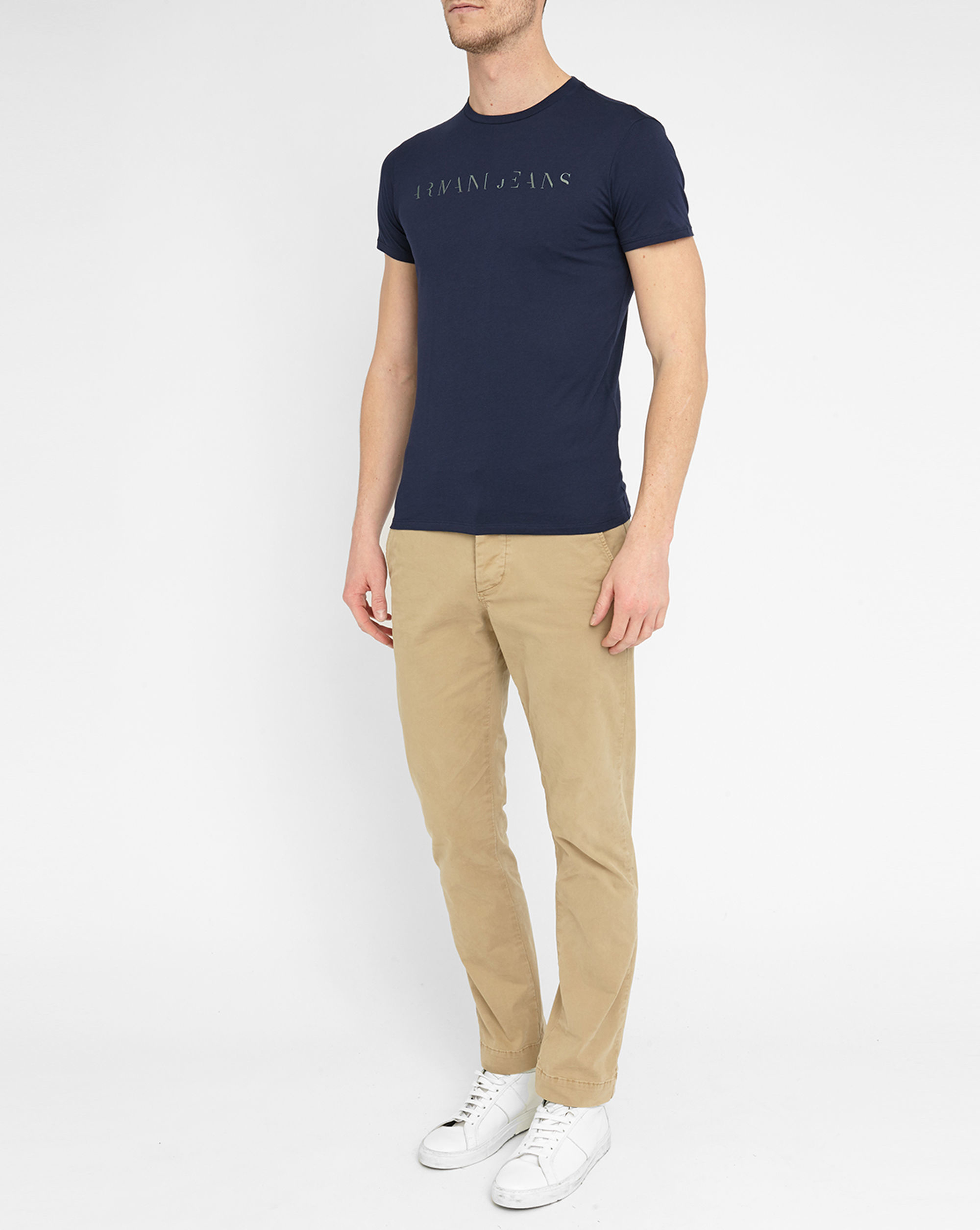 Armani Jeans Navy Round Neck T Shirt In Blue For Men Lyst