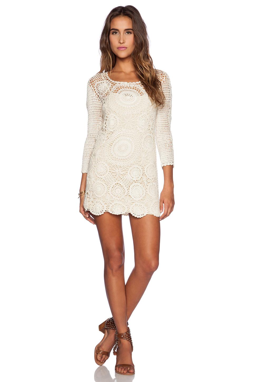 How To Spell Crochet : Spell & the gypsy collective Havana Crochet Mini Dress in Beige (Cream ...