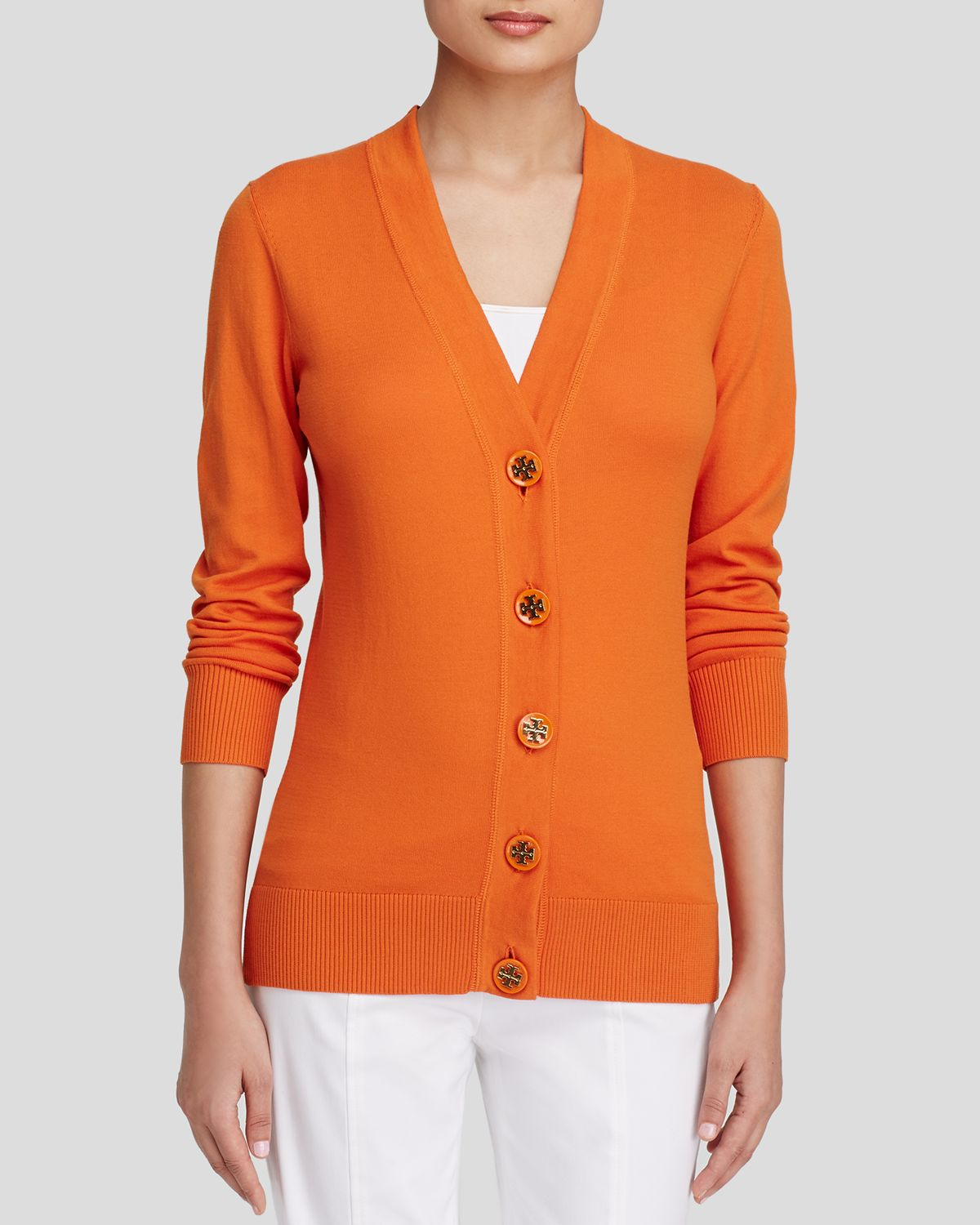 Tory burch Cardigan - Simone in Orange | Lyst
