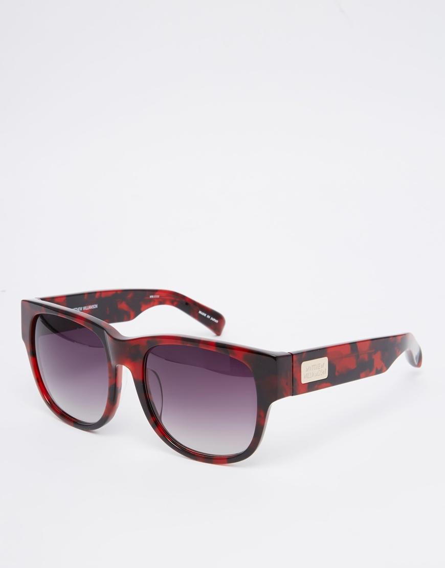 Matthew williamson Tortoiseshell Sunglasses in Red