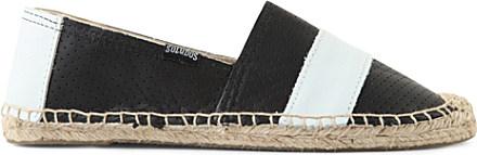 Soludos Barca Original Striped Leather Espadrilles in ...