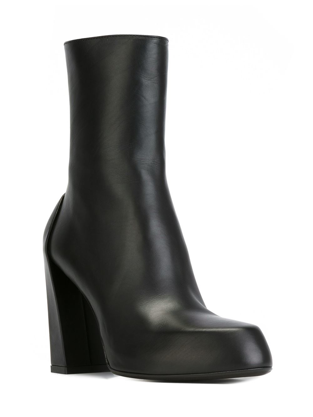demeulemeester chunky heel ankle boots in black lyst