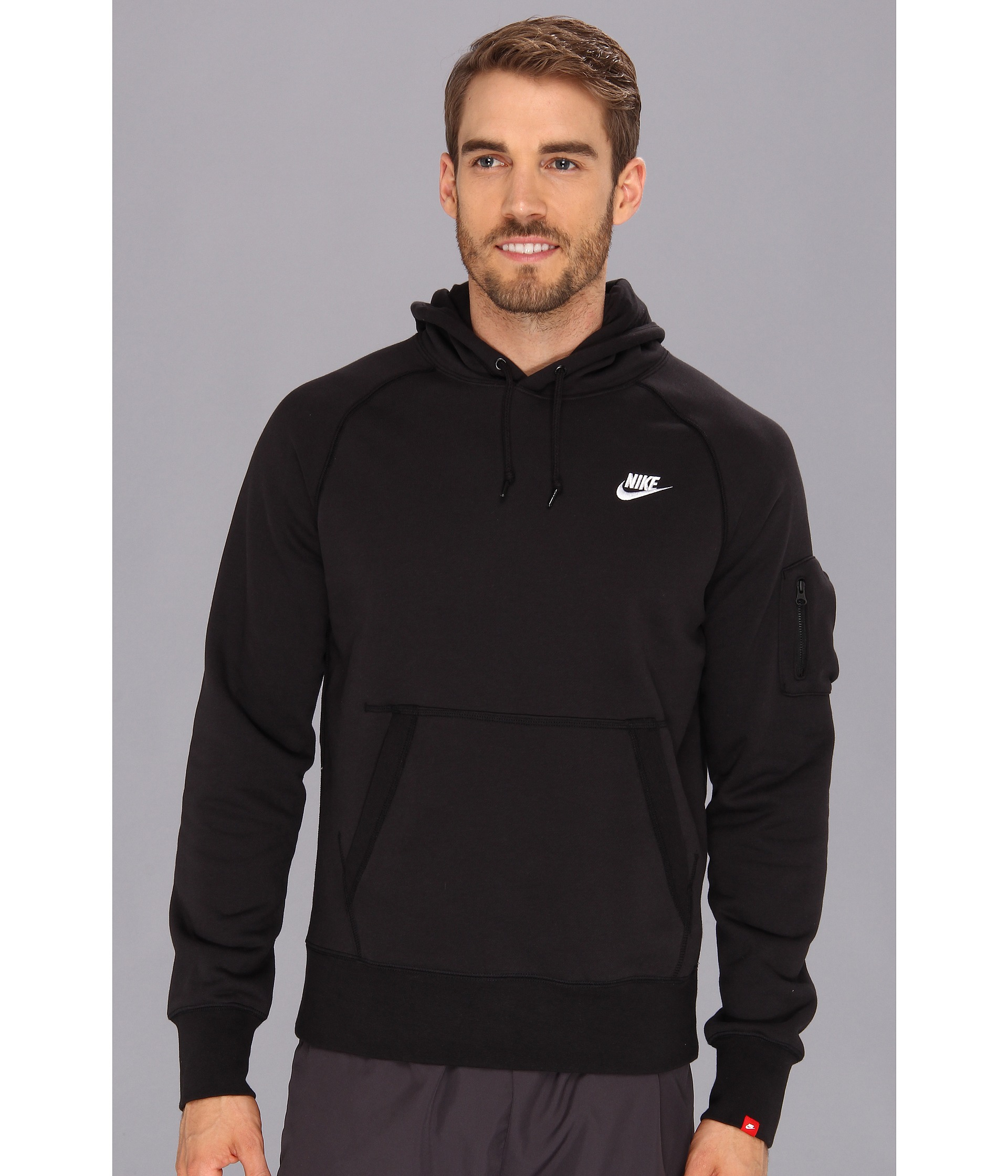 Nike Aw77 Fleece Pullover Hoodie in Black for Men | Lyst
