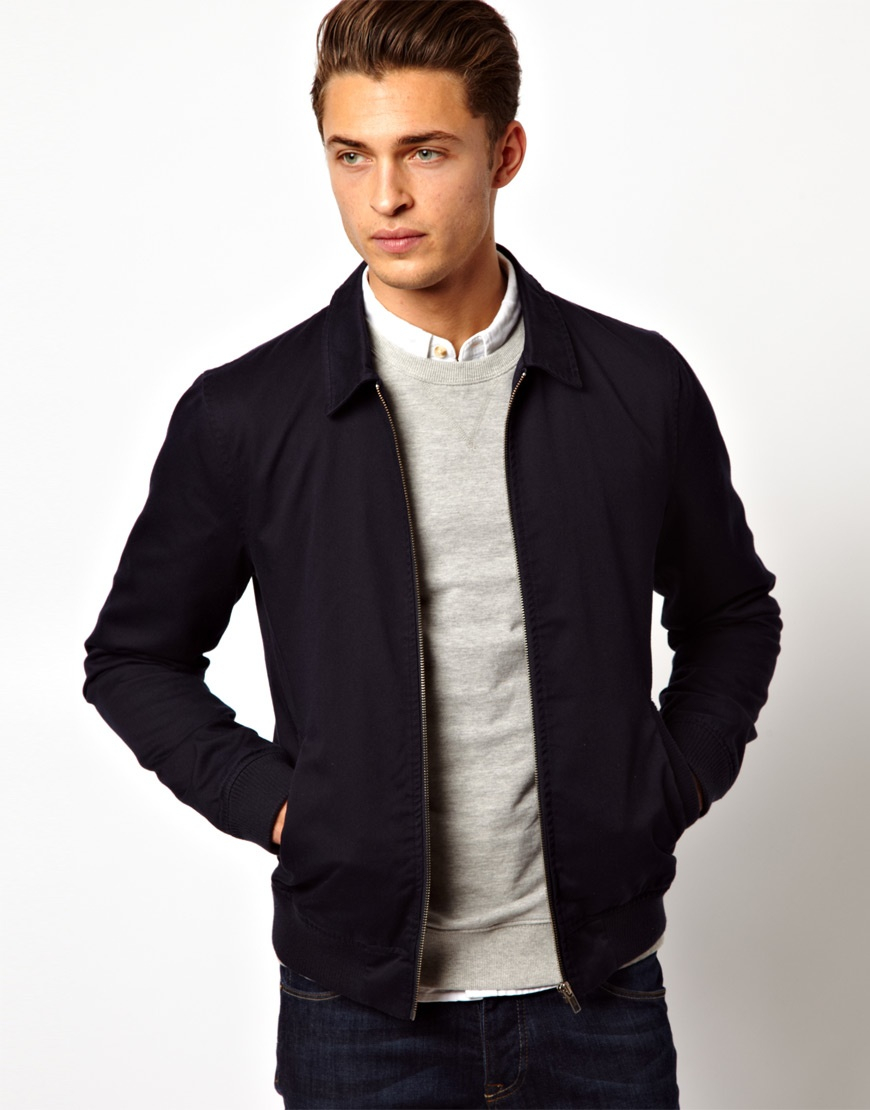 ASOS Men's Coats and Jackets With a coat or jacket, you can keep yourself warm on colder days or add the garment for style to complete an outfit. ASOS is a brand whose jackets are available in numerous styles including motorcycle, trench, and windbreaker.