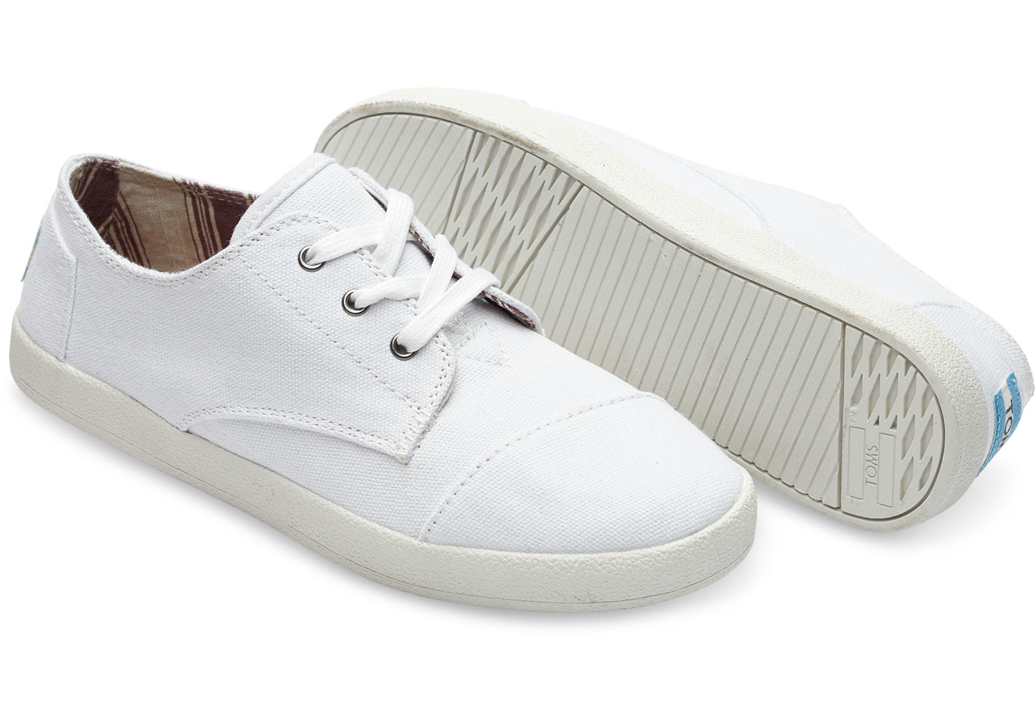 ad57f12c795 Lyst - TOMS White Canvas Women s Paseos in White