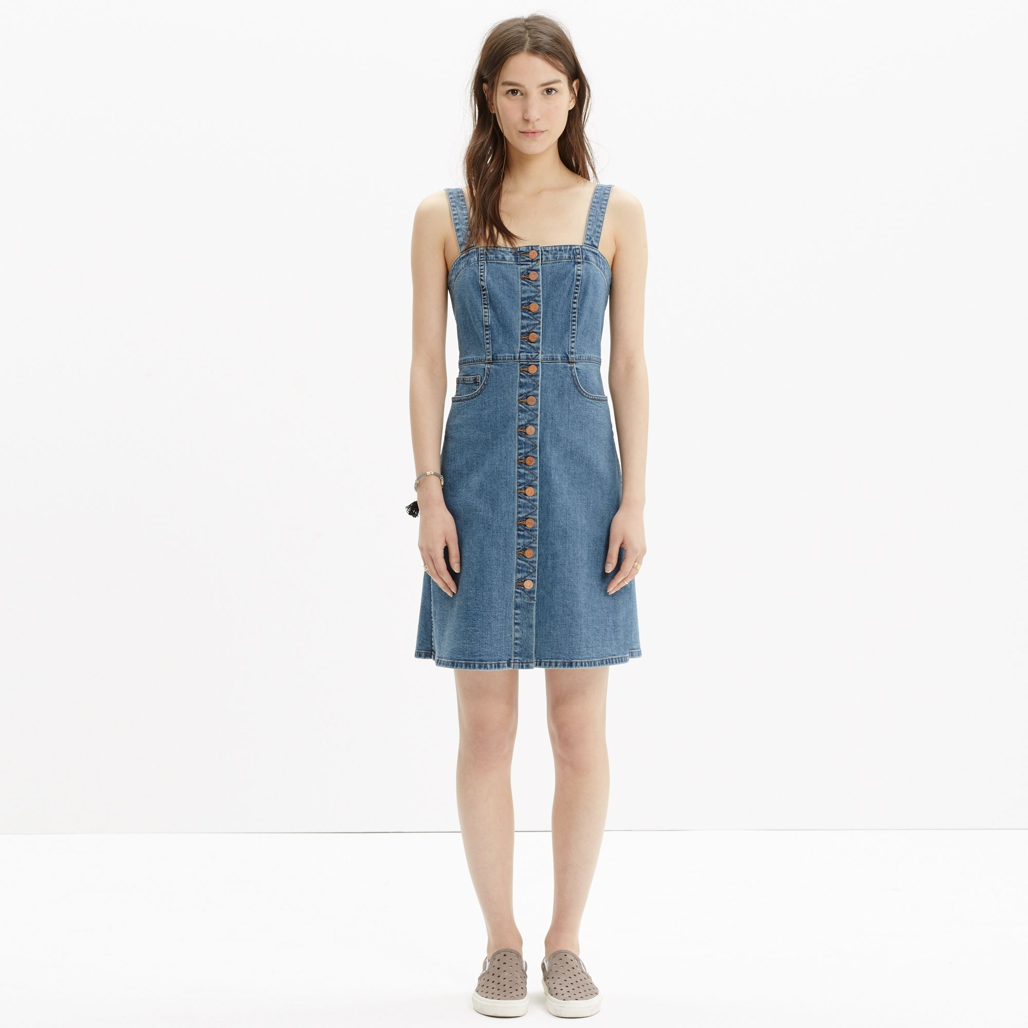 ASOS DESIGN Curve denim midi overall dress in midwash blue. $ ASOS DESIGN denim midi overall dress in mid wash blue. $ ASOS DESIGN Tall denim shirt dress with deep cuff in washed black. $ The Simpsons x ASOS DESIGN all over print denim pinafore dress. $