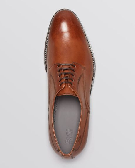 Plain Toe Oxford Brown Burnished Plain Toe Oxford