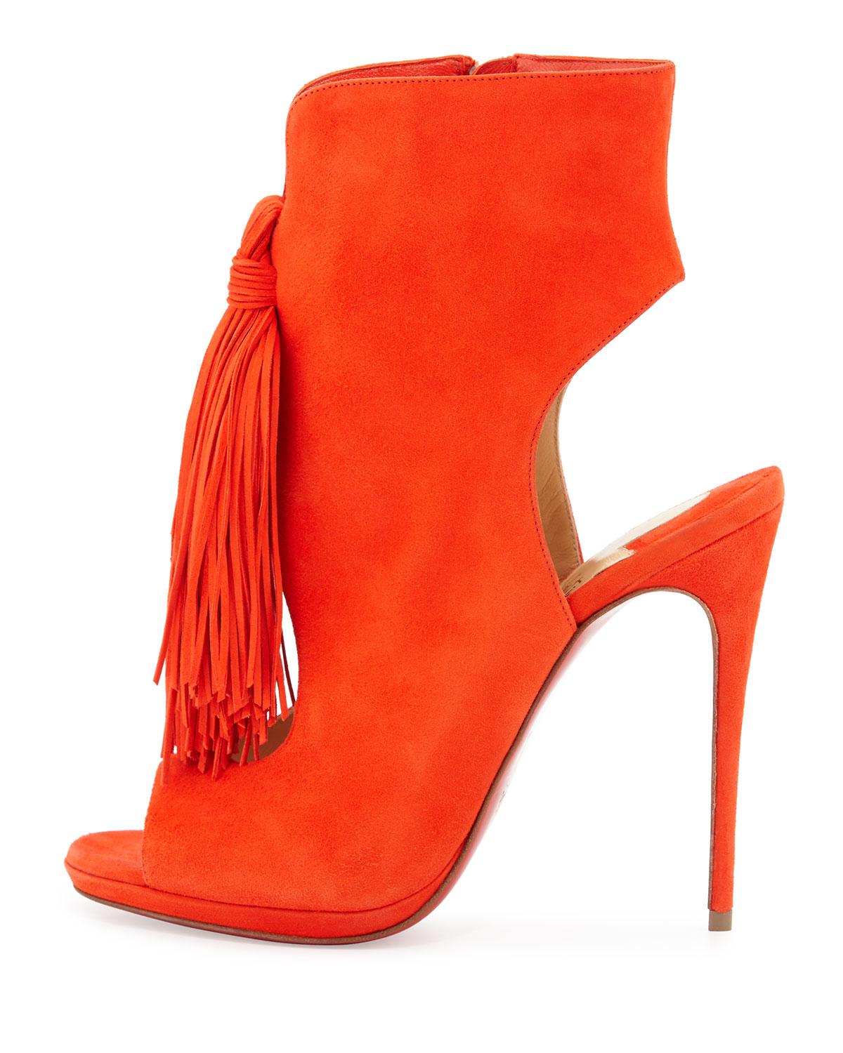 cost of christian louboutin shoes - Christian louboutin Ottaka Suede Fringed Sandals in Orange ...