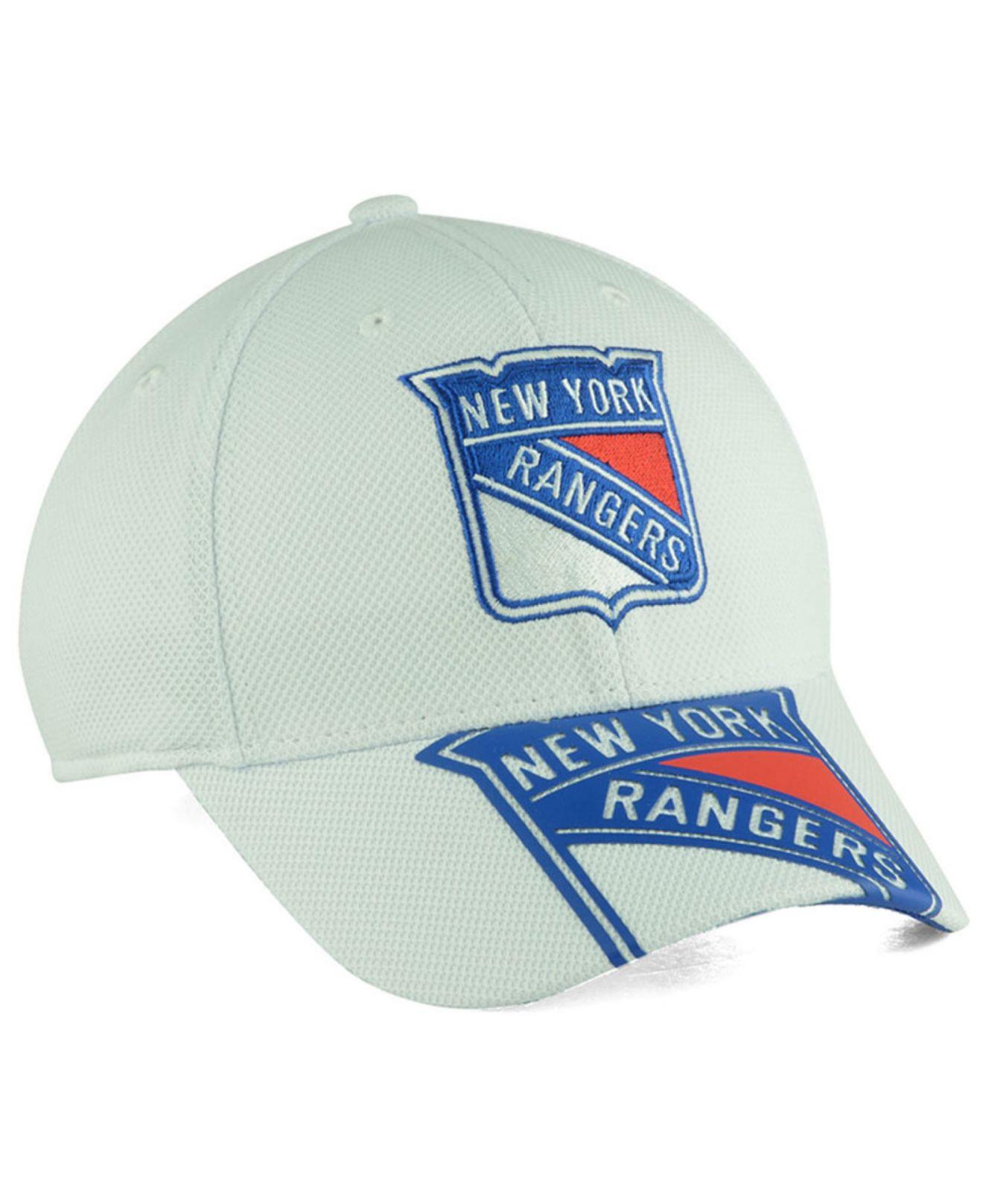 newest 6ae3d 657c6 ... hat 918dd cba23 reduced lyst reebok new york rangers 2nd season draft  flex cap in blue for men a7aa0 ...