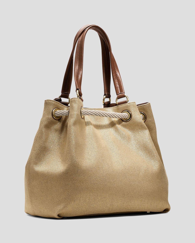 f3a8e95d8608 michael kors marina metallic tote purse burgundy - Marwood ...