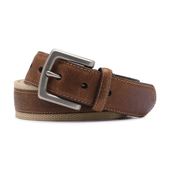 g h bass co wyatt canvas leather belt in brown for