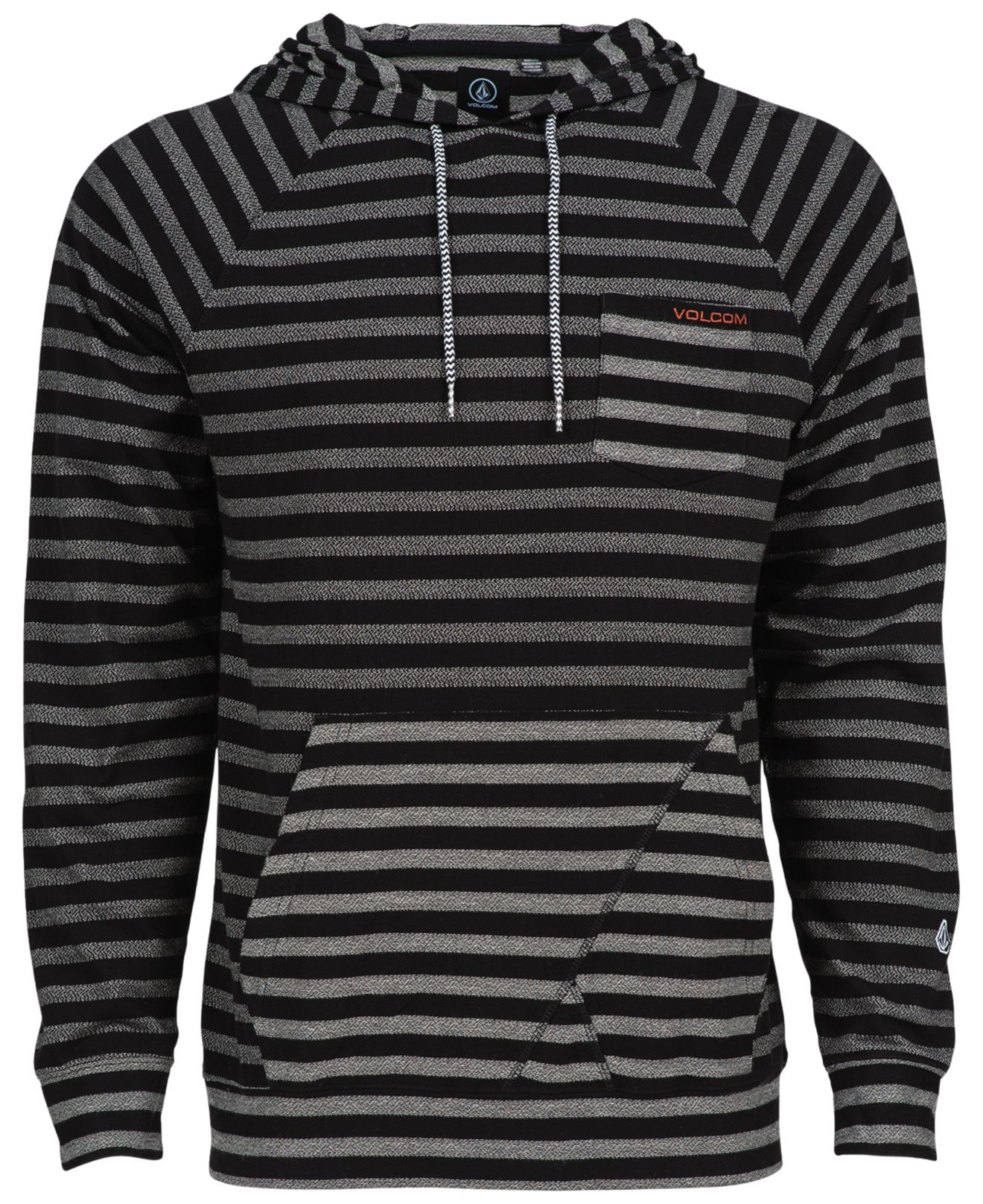 Volcom Striped Bullfrog Pullover Hoodie in Black for Men | Lyst