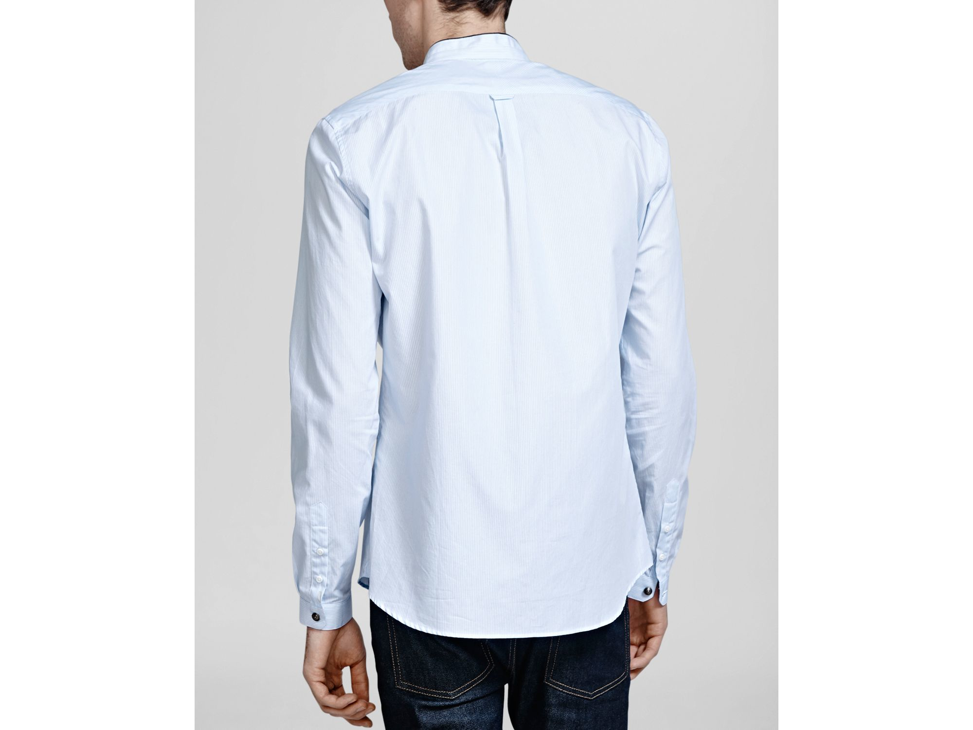 Lyst The Kooples Striped Popeline Button Down Shirt